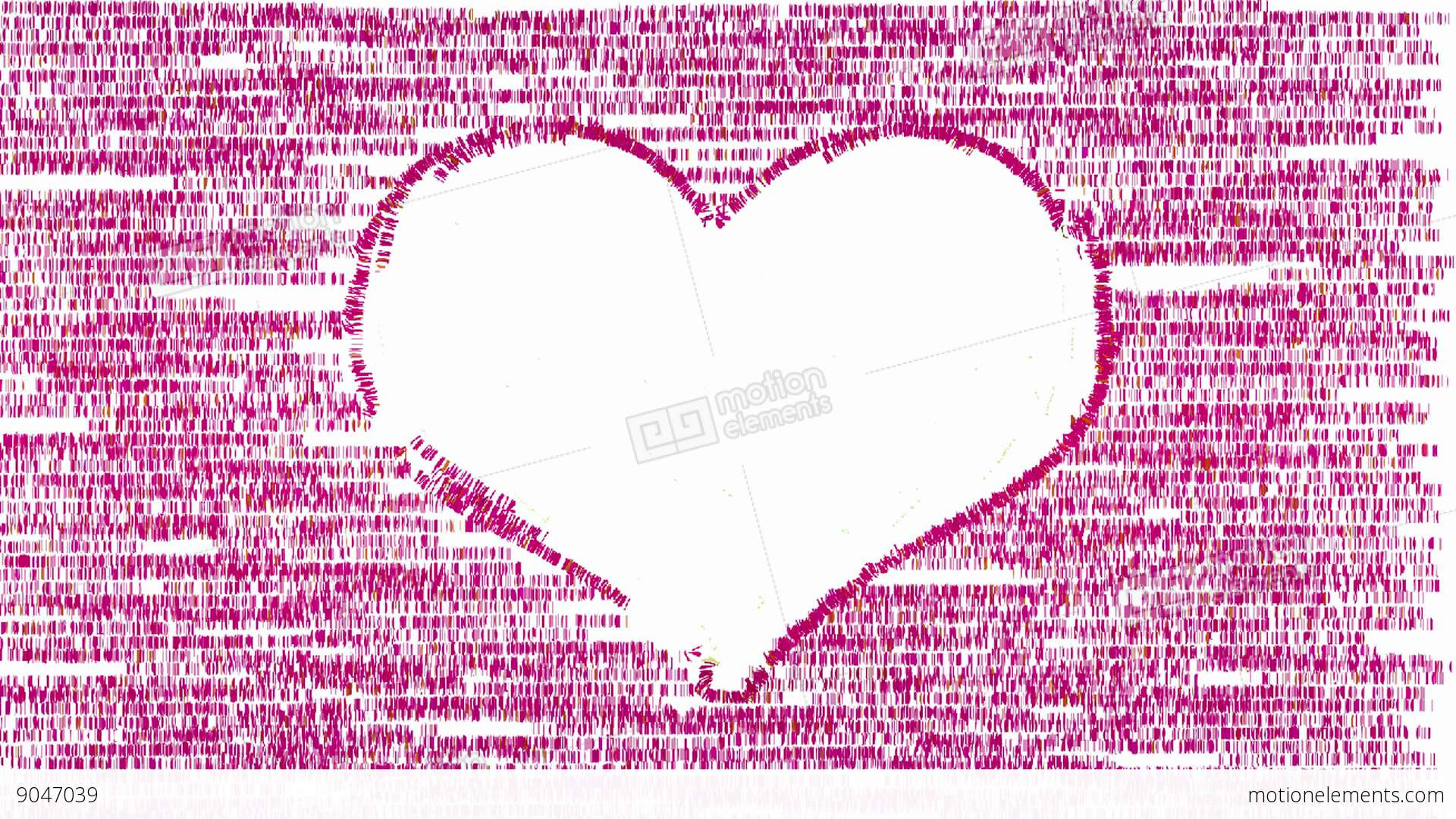 White Heart On Pink Animated Artistic Background Stock Animation