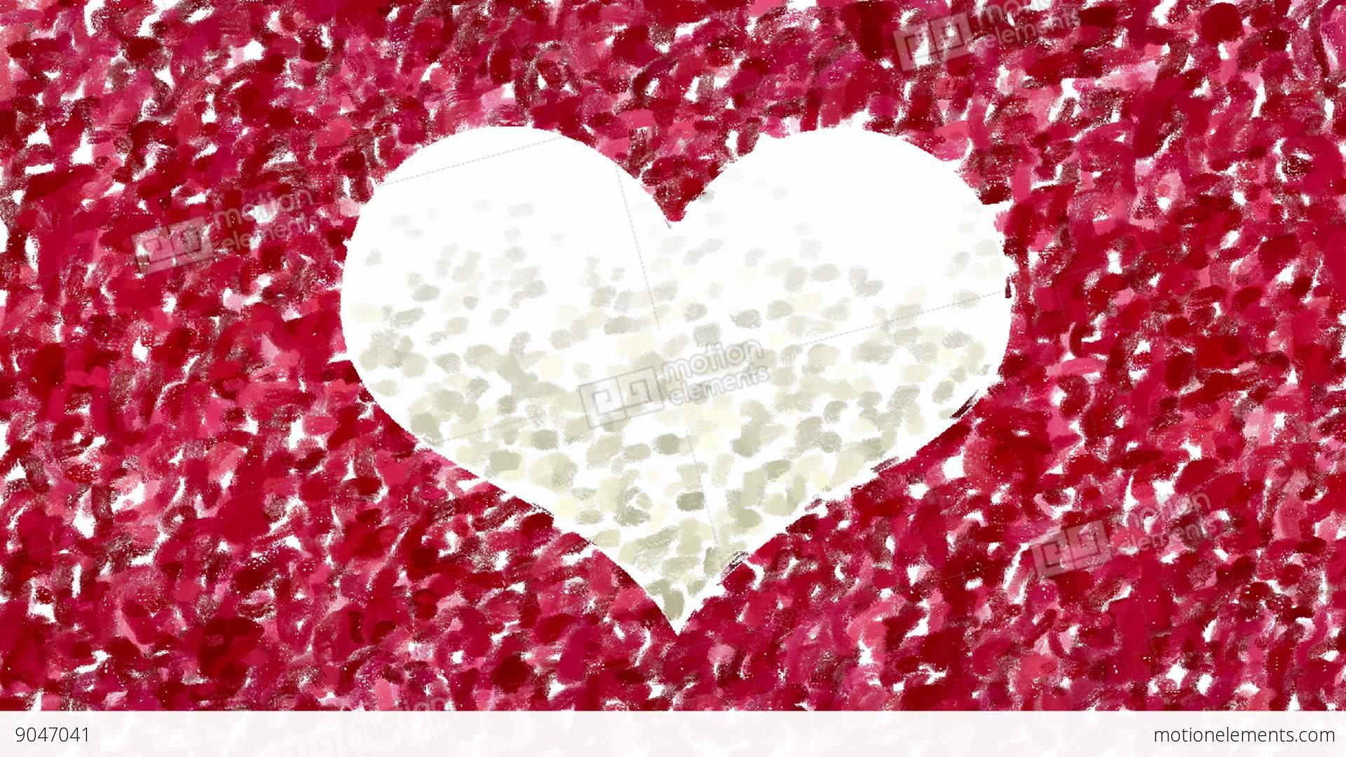 Hand Painting Heart Symbol Animation Stock Animation 9047041