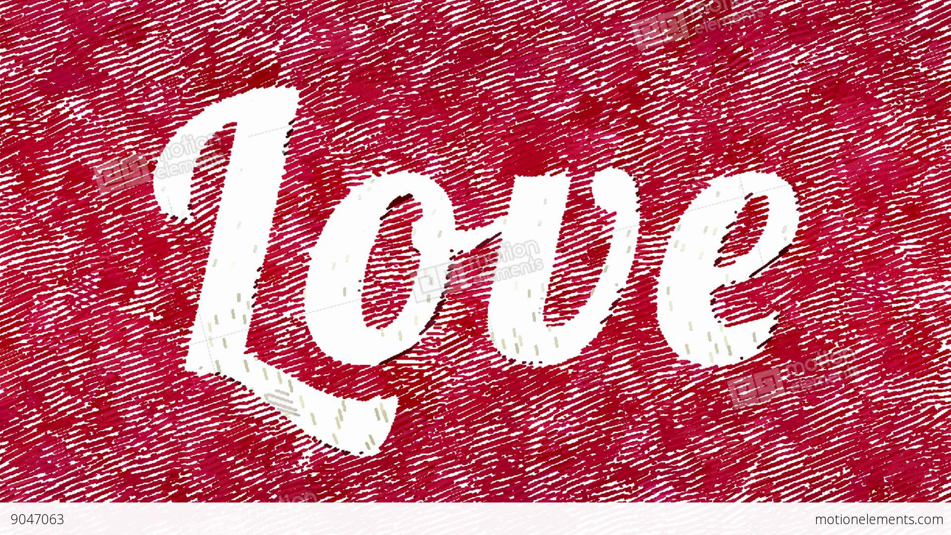 Animated Square Strokes Forms Word Love Stock Footage