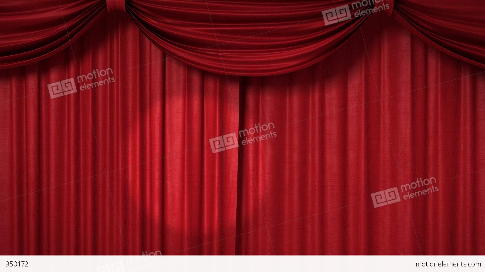 Opening and closing red curtain stock animation royalty free stock - Opening And Closing Red Curtain With Spotlights Stock