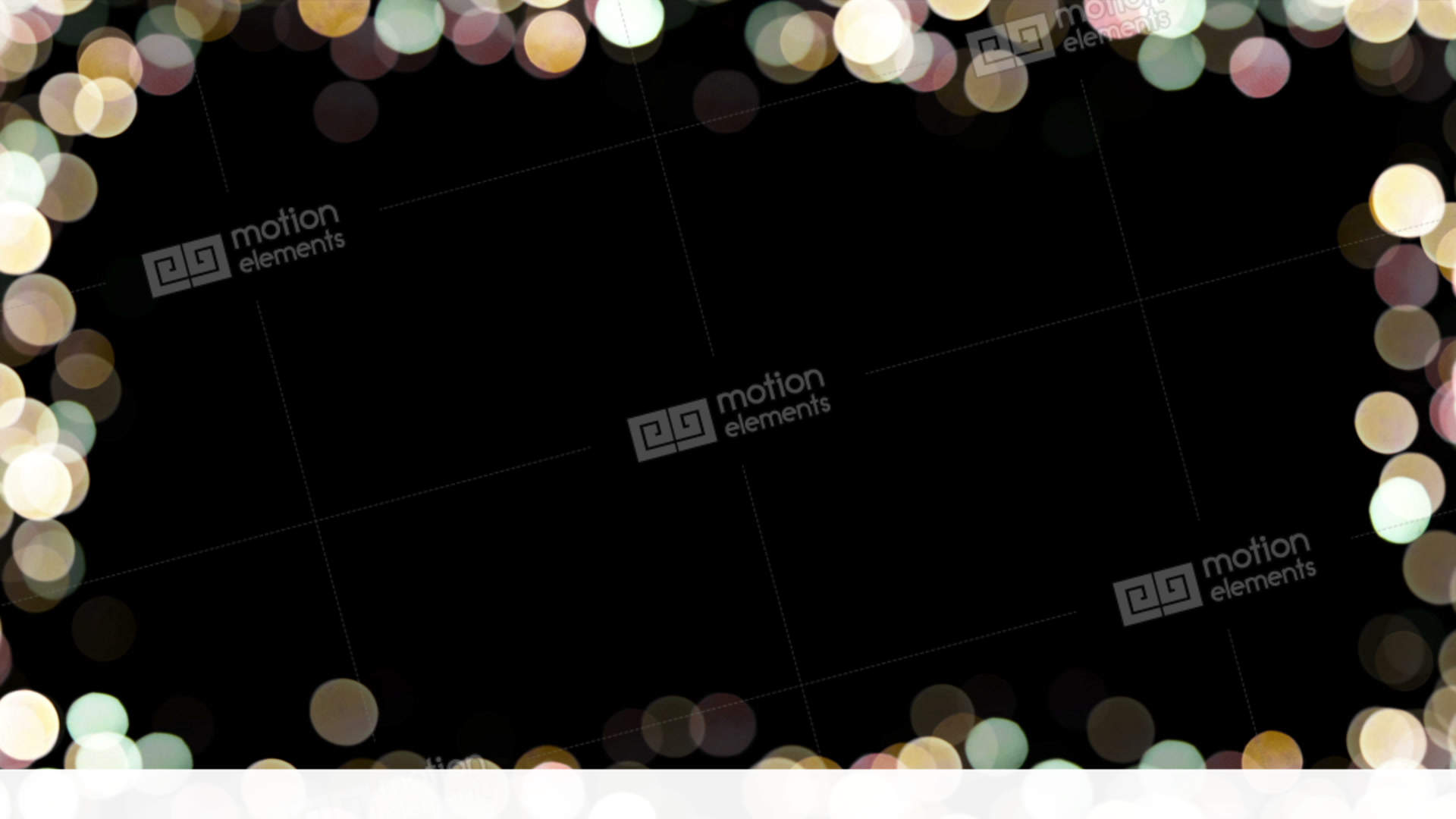 Particles Bokeh Frame 03 Stock Animation   11494539