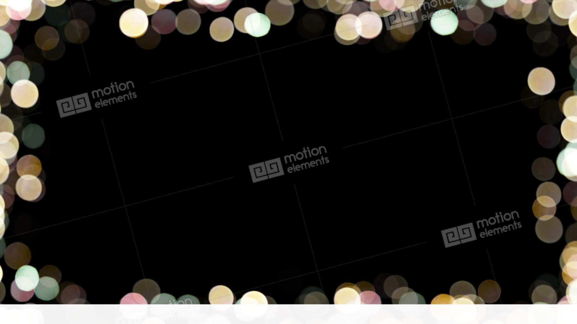 Particles Bokeh Frame 03 Stock Animation | 11494539