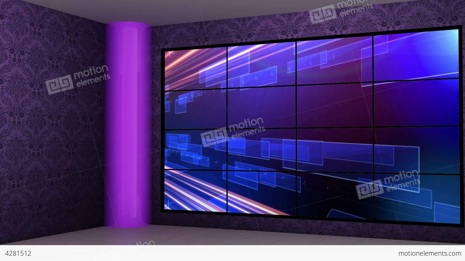 News 16 Virtual Green Screen Background Loop Stock video