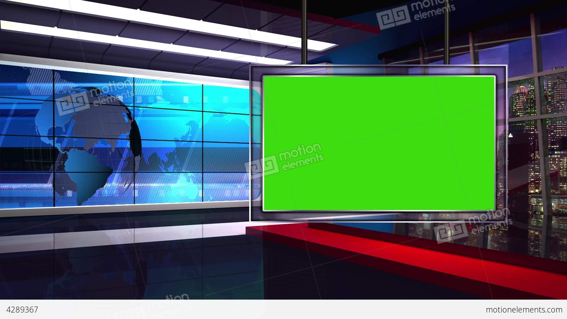 News 34 Virtual Green Screen Background Loop Stock Video
