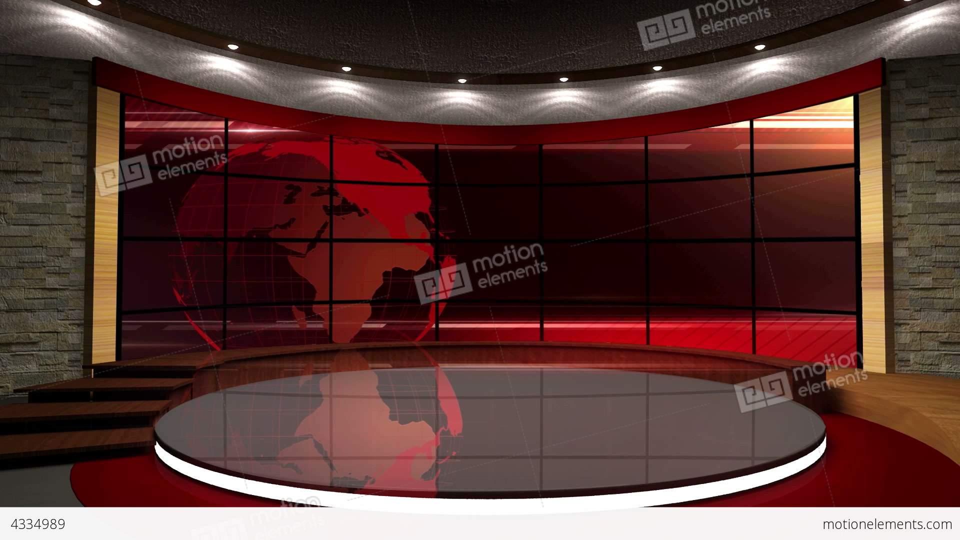 Studio 06 news tv studio set 06 - virtual background loop stock video footage