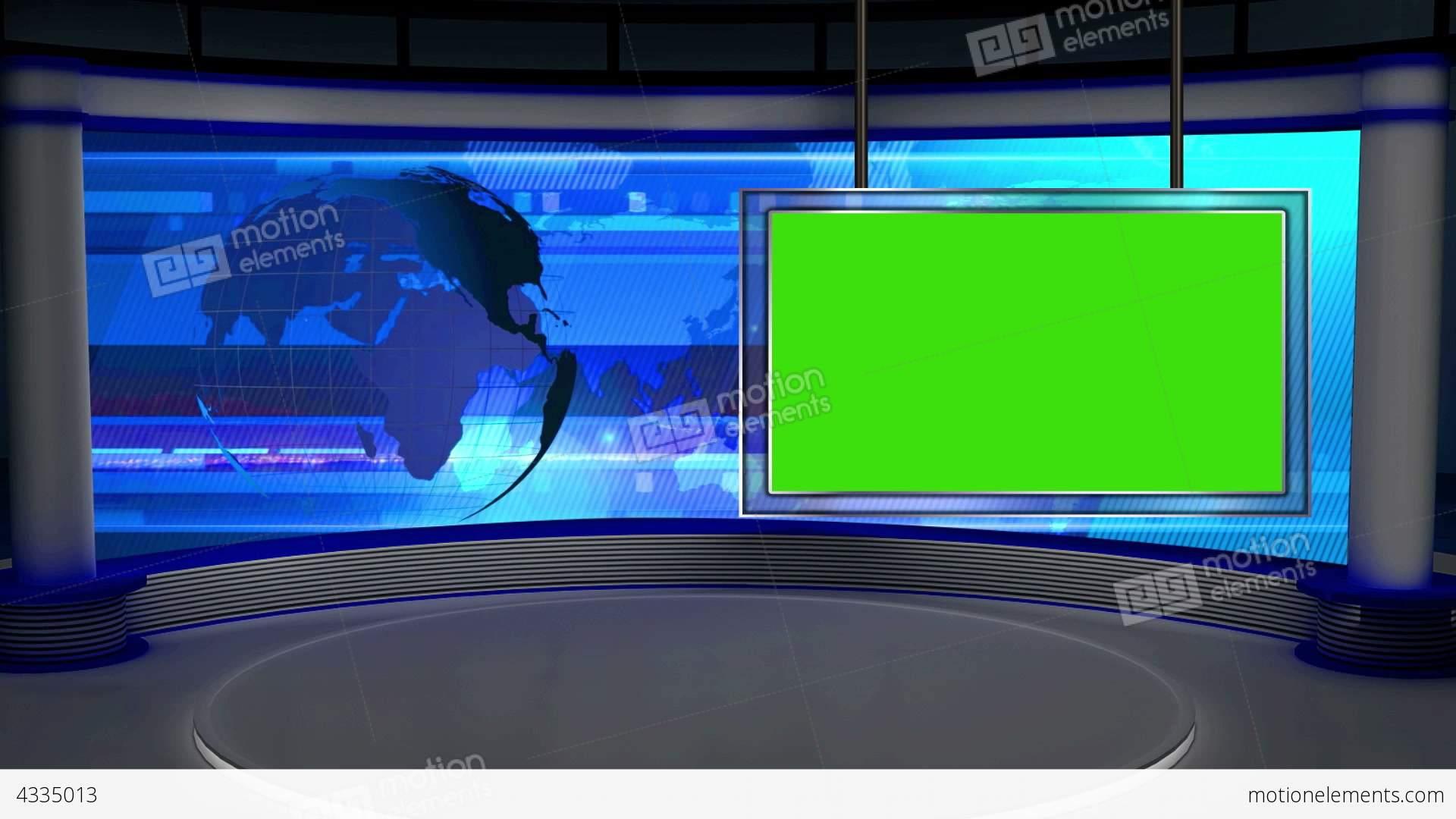 News TV Studio Set 28