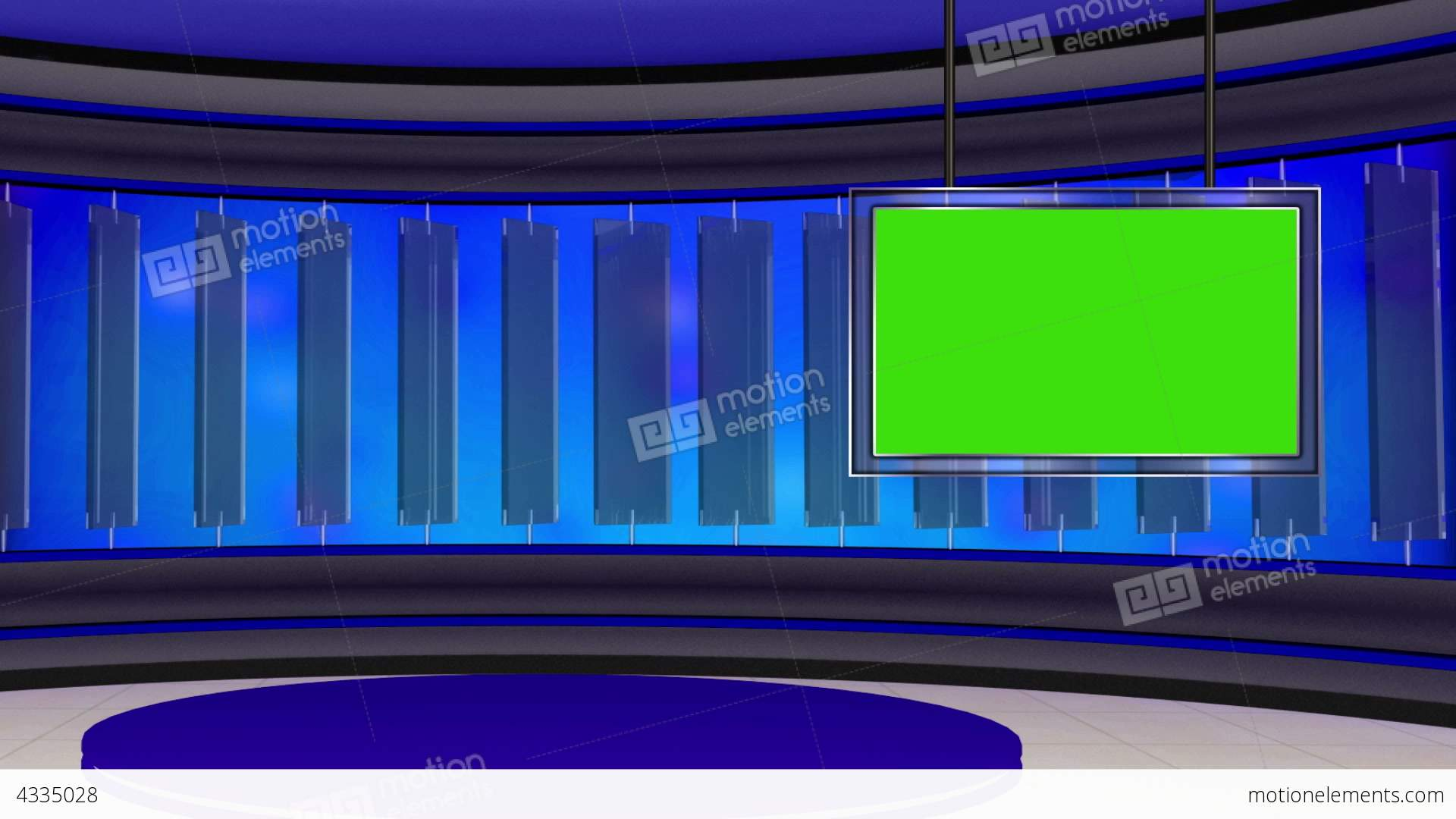 News TV Studio Set 22 Virtual Green Screen Backgro Stock