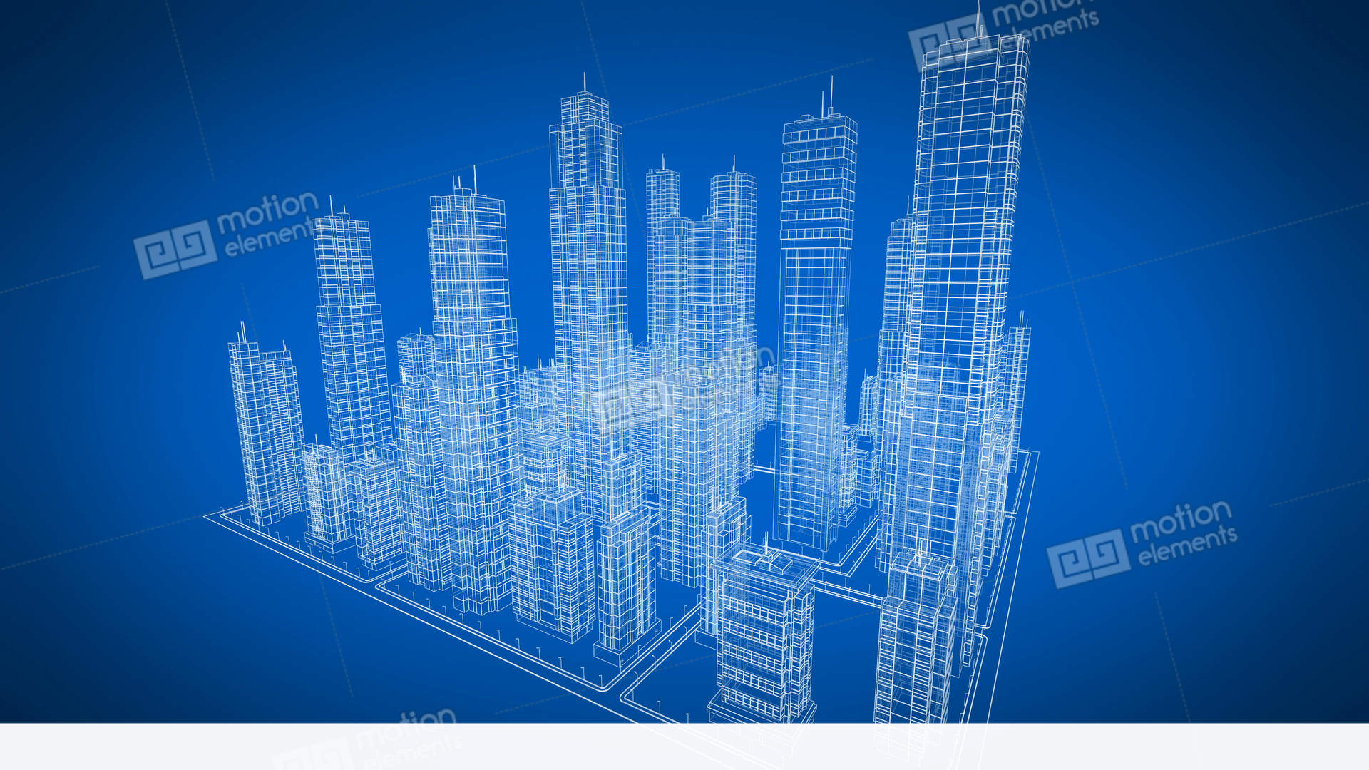 Beautiful rotating blueprint of contemporary buildings blue color beautiful rotating blueprint of contemporary buildings stock video footage malvernweather Images