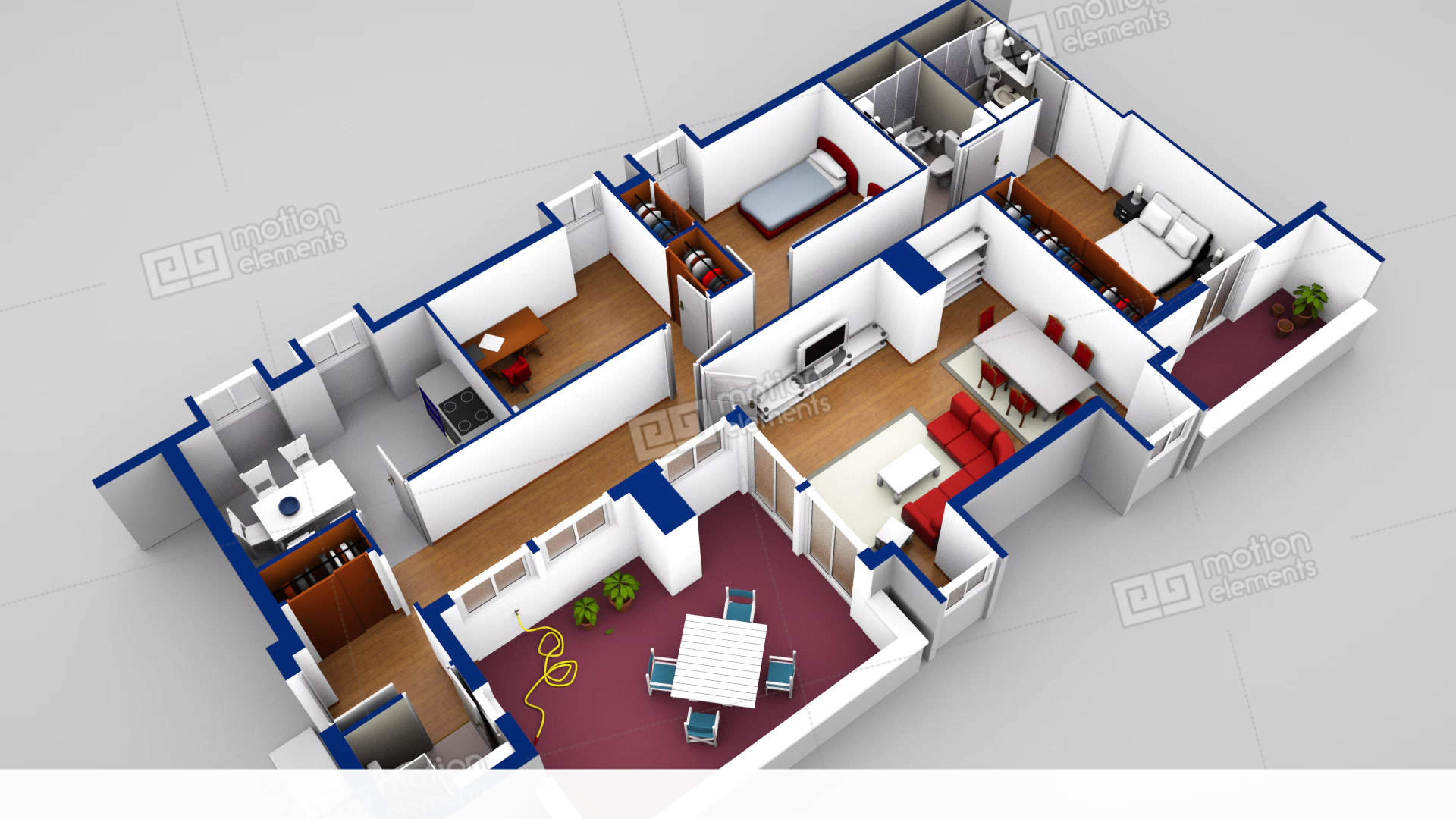 House blueprint 3d loop stock animation 11346485 house blueprint 3d loop stock video footage malvernweather Image collections
