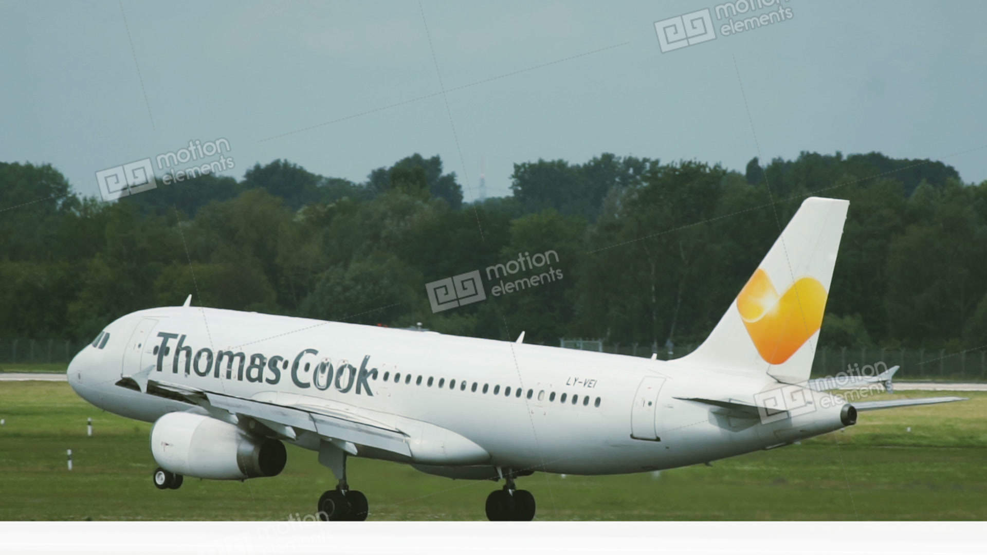 airbus a320 of thomas cook landing at dusseldorf airport stock video rh motionelements com Airport Guide Ambassador Uniforms World Airport Info