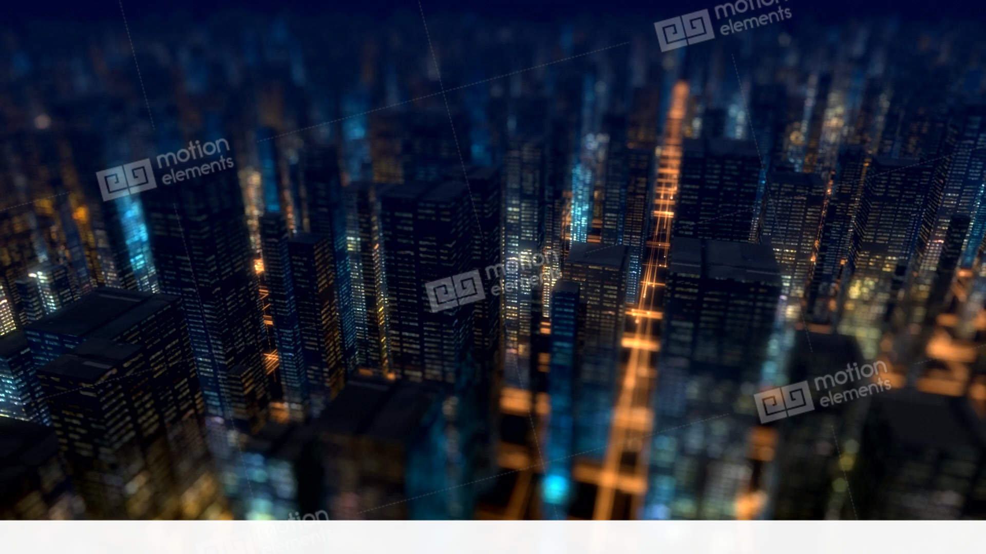 city background buildings Night