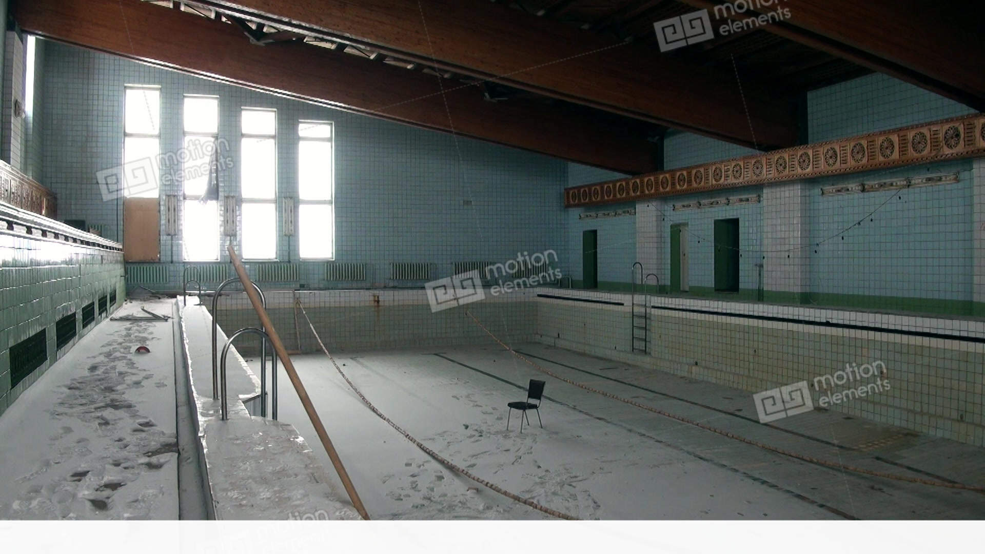 Swimming Pool In Building Of Palace Of Culture And Sports... Stock Video  Footage