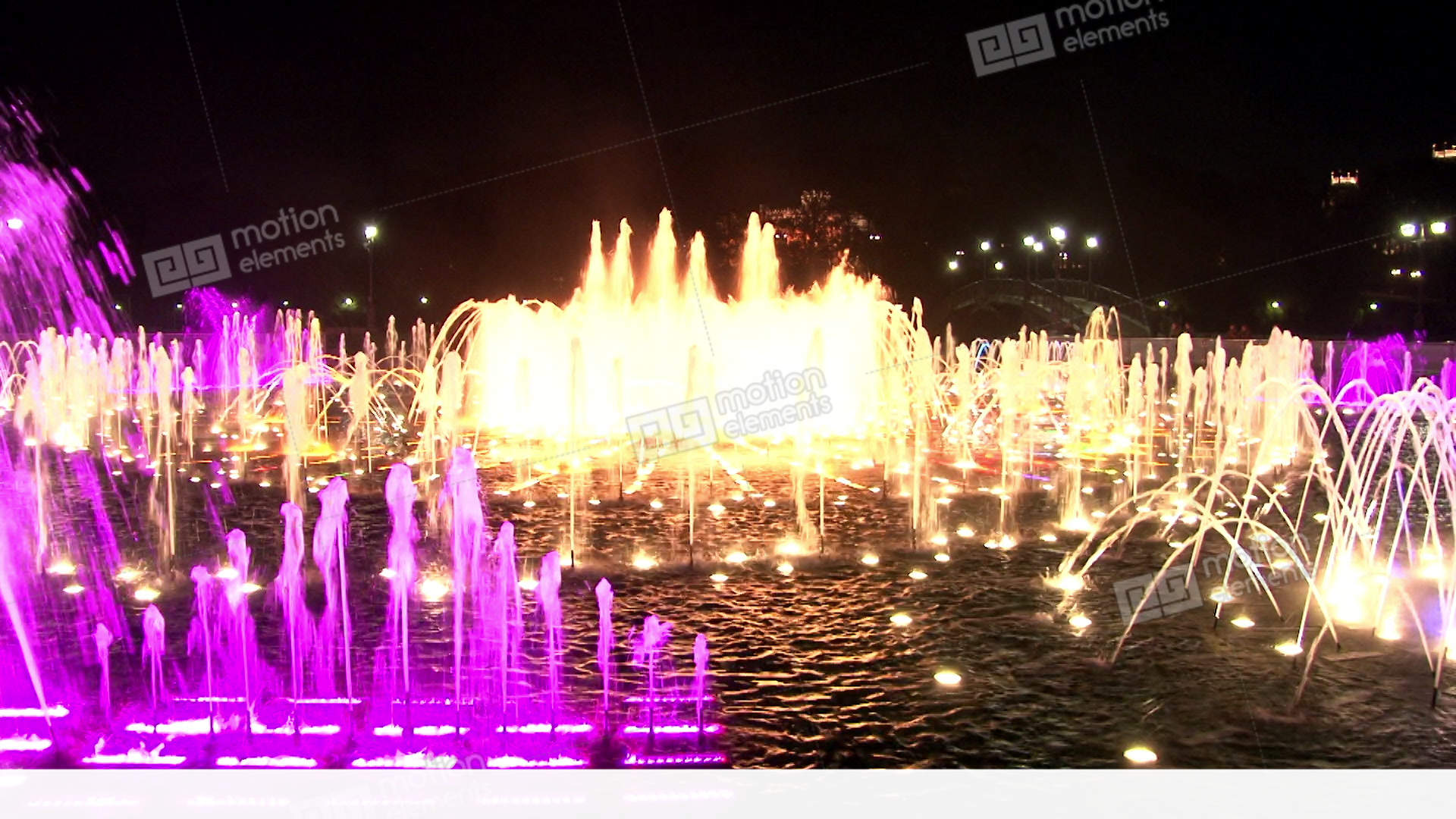Dancing Fountains In Moscow At Night Stock video footage