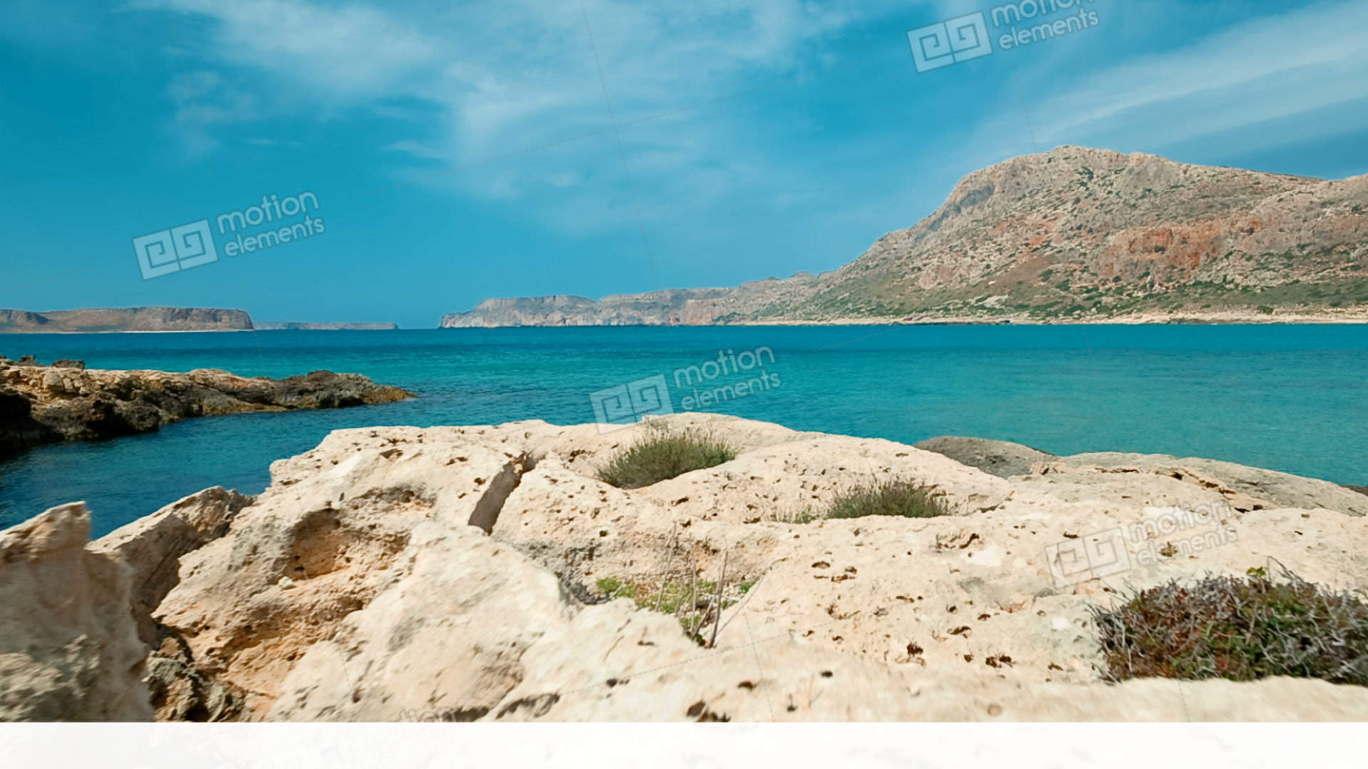 Balos Beach Crete Greece Stock Video Footage