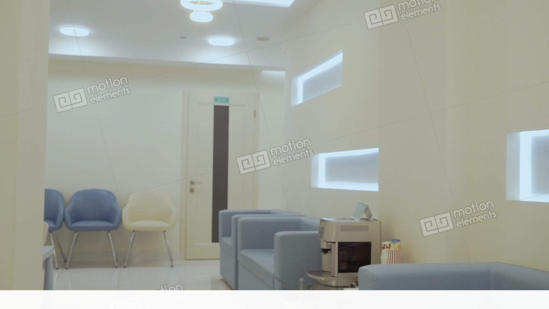 Interior design of modern clinic stock video footage