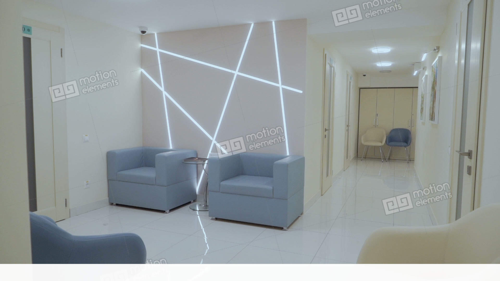 New and stylish interior design in modern clinic stock video footage