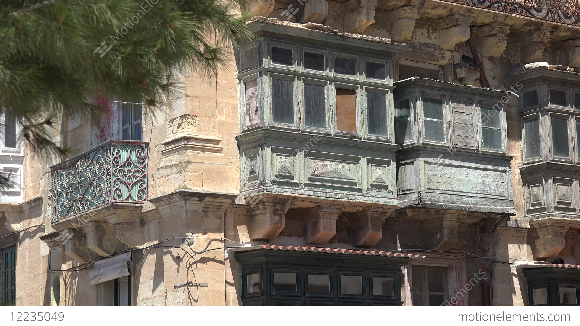 malta valletta typical old house facade with maltese oriel windows rh motionelements com