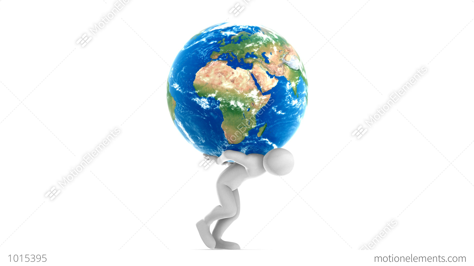 joe carrying earth hd alpha stock animation 1015395