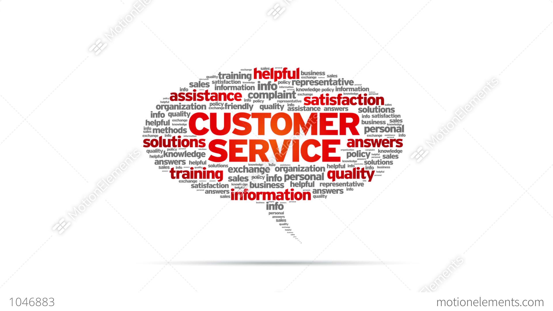 Customer Service Speech Bubble Stock Animation