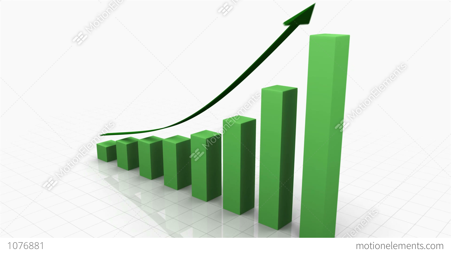 3d growing bar graph w arrow stock animation 1076881 3d growing bar graph w arrow stock video footage ccuart Images