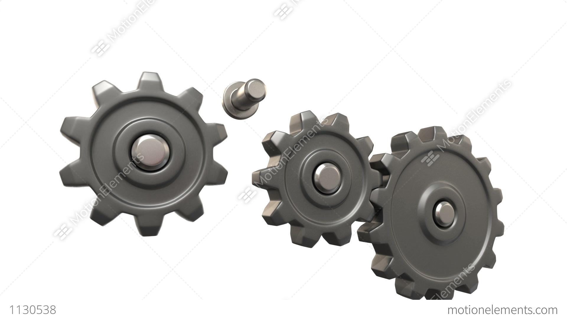 Broken Gears System Stock Animation | 1130538