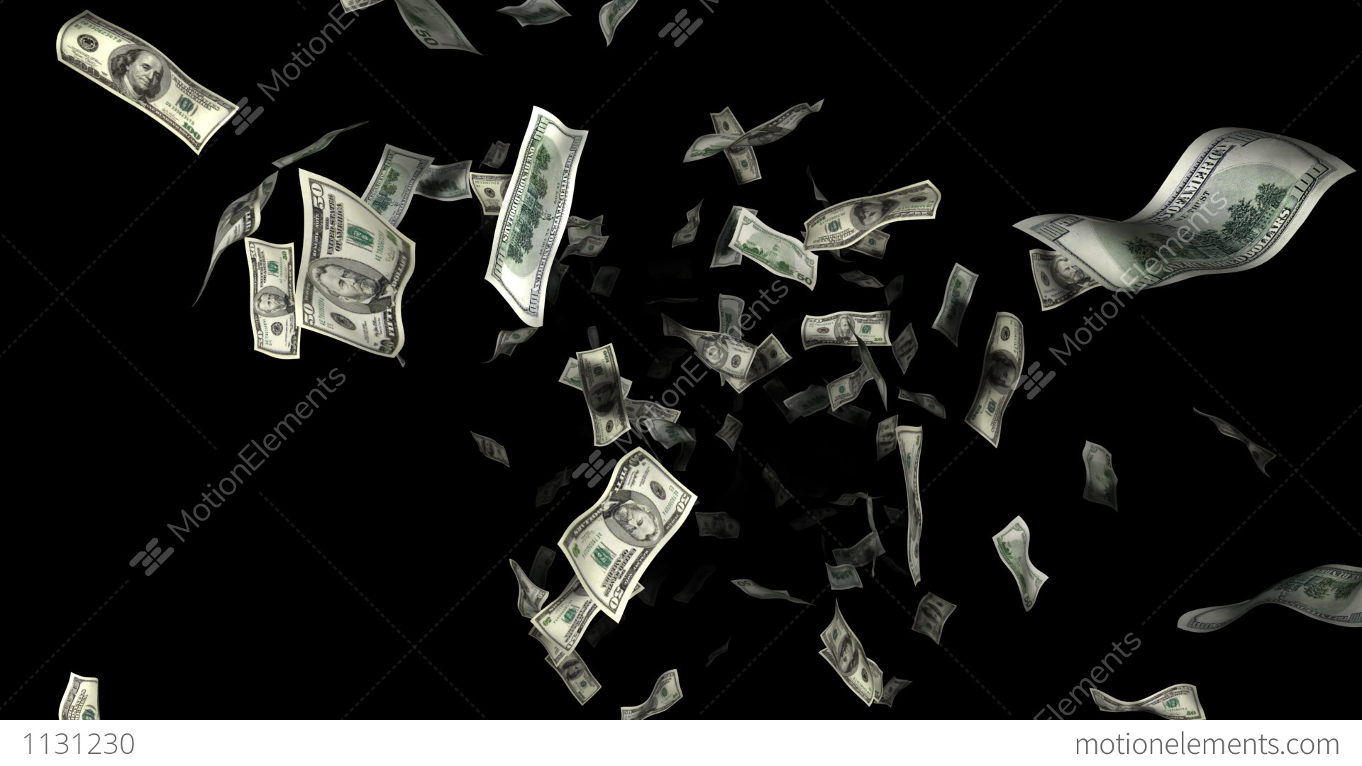 money rain stock animation