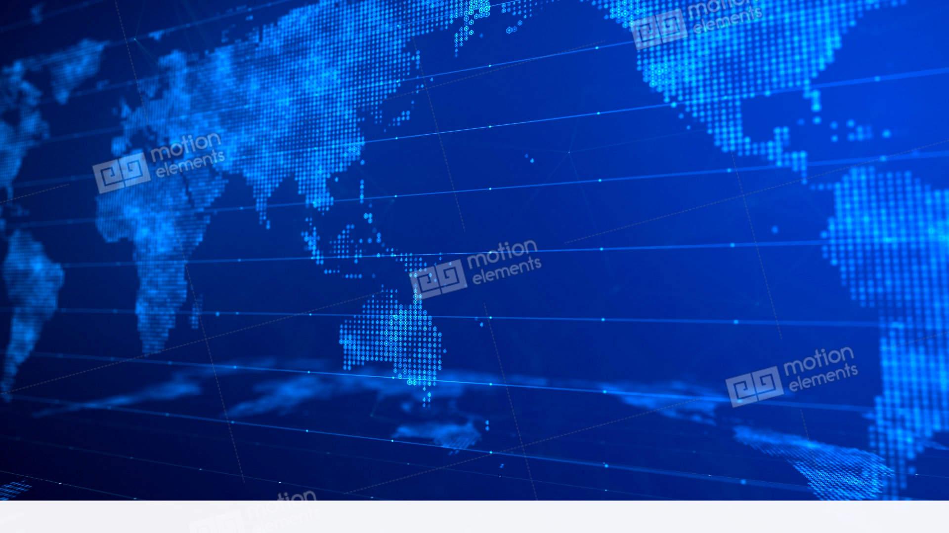 Digital World Map Background 01 Stock Animation