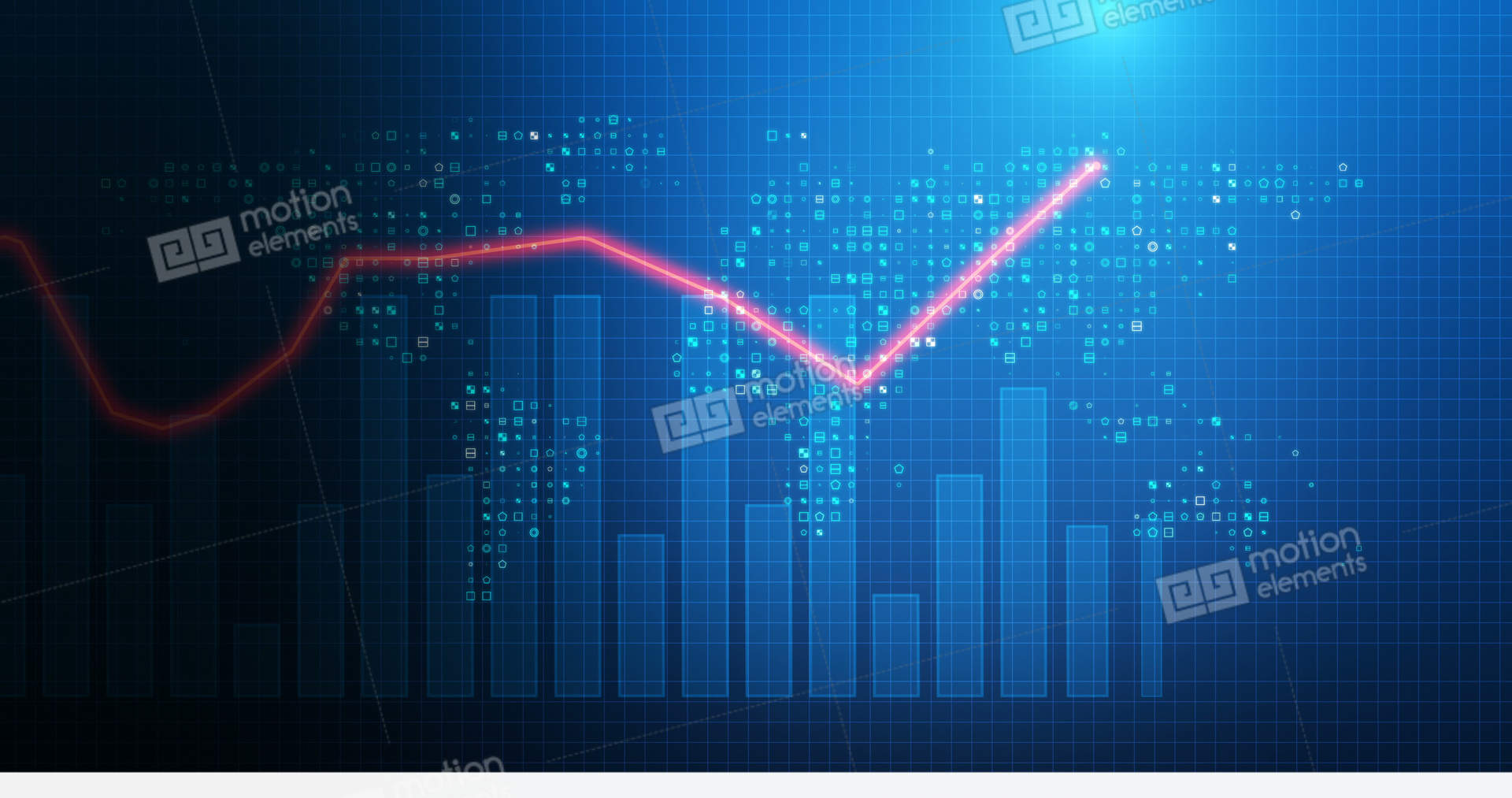 4k Loop Financial Chart Background Footage Stock Animation