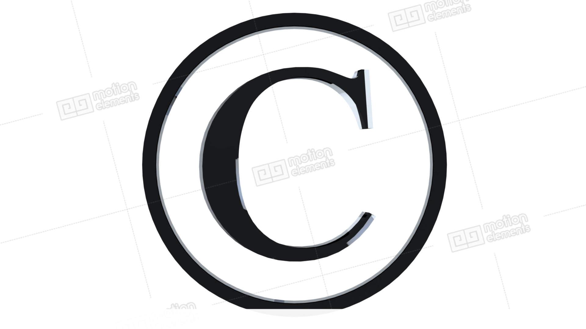 Animated Copyright Symbol Stock Animation 11539291