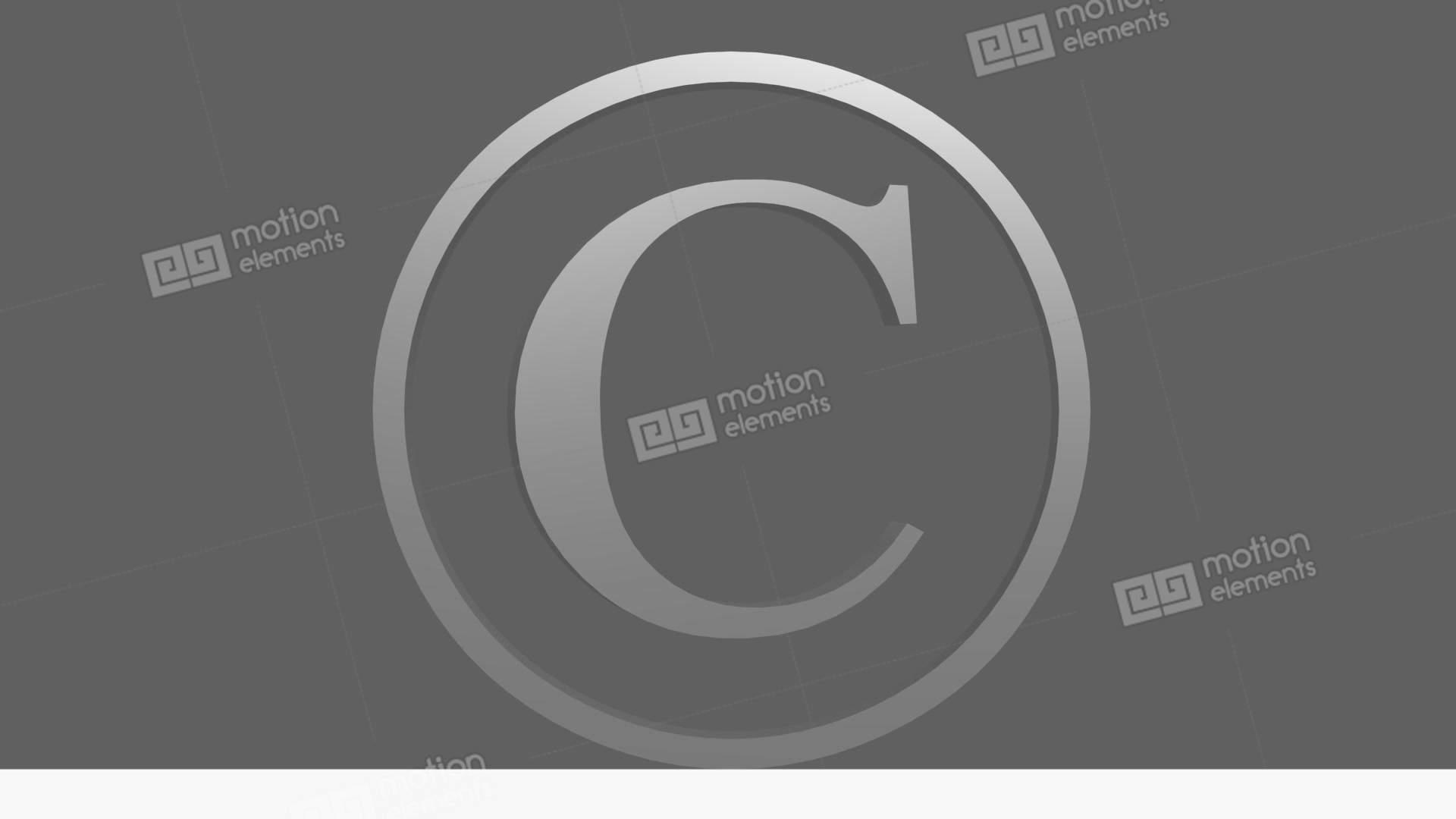 Animated Copyright Symbol 3 Stock Animation 11539294