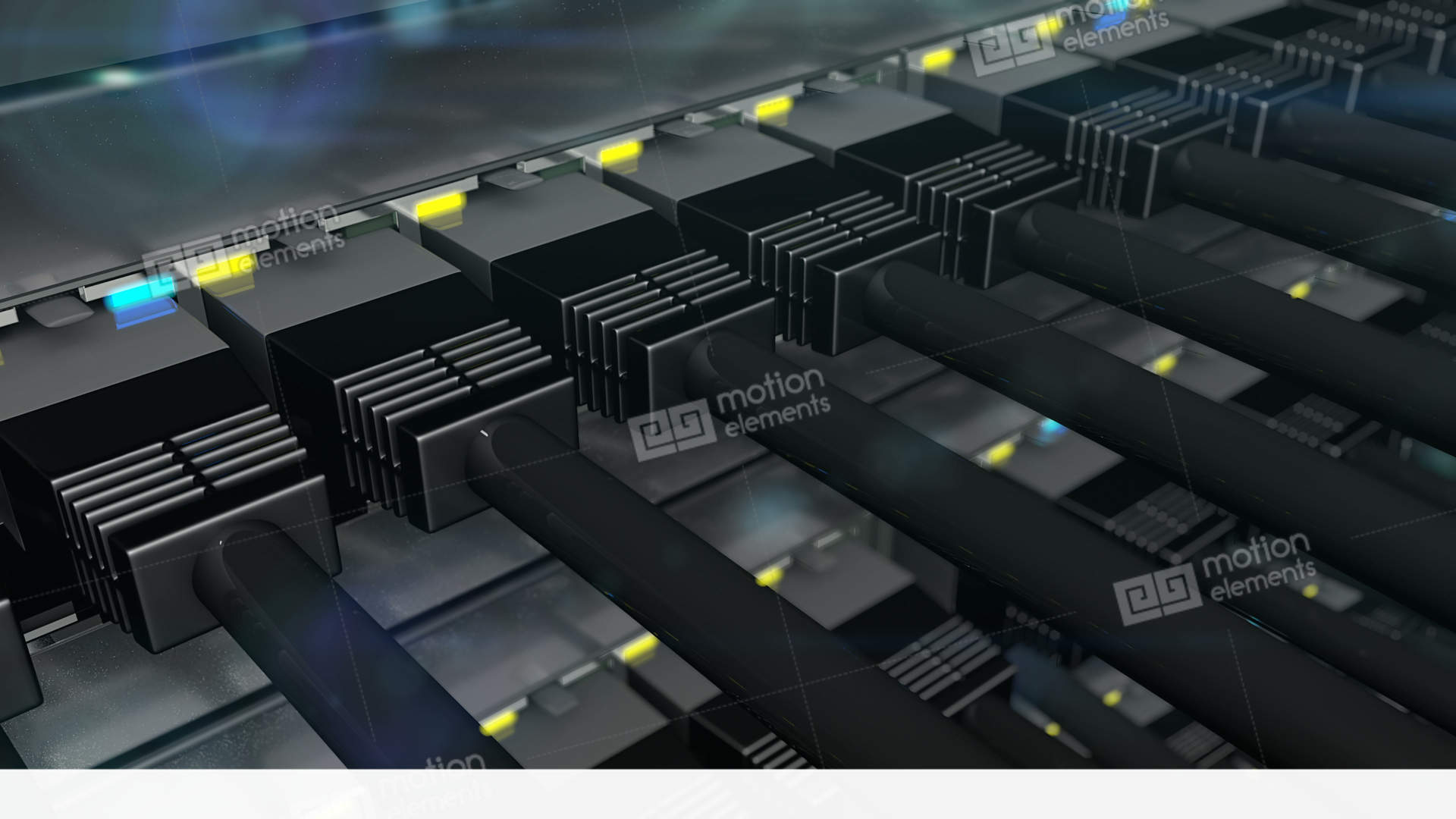Black Connectors Plugged In To Network Switch Loop Stock Animation ...