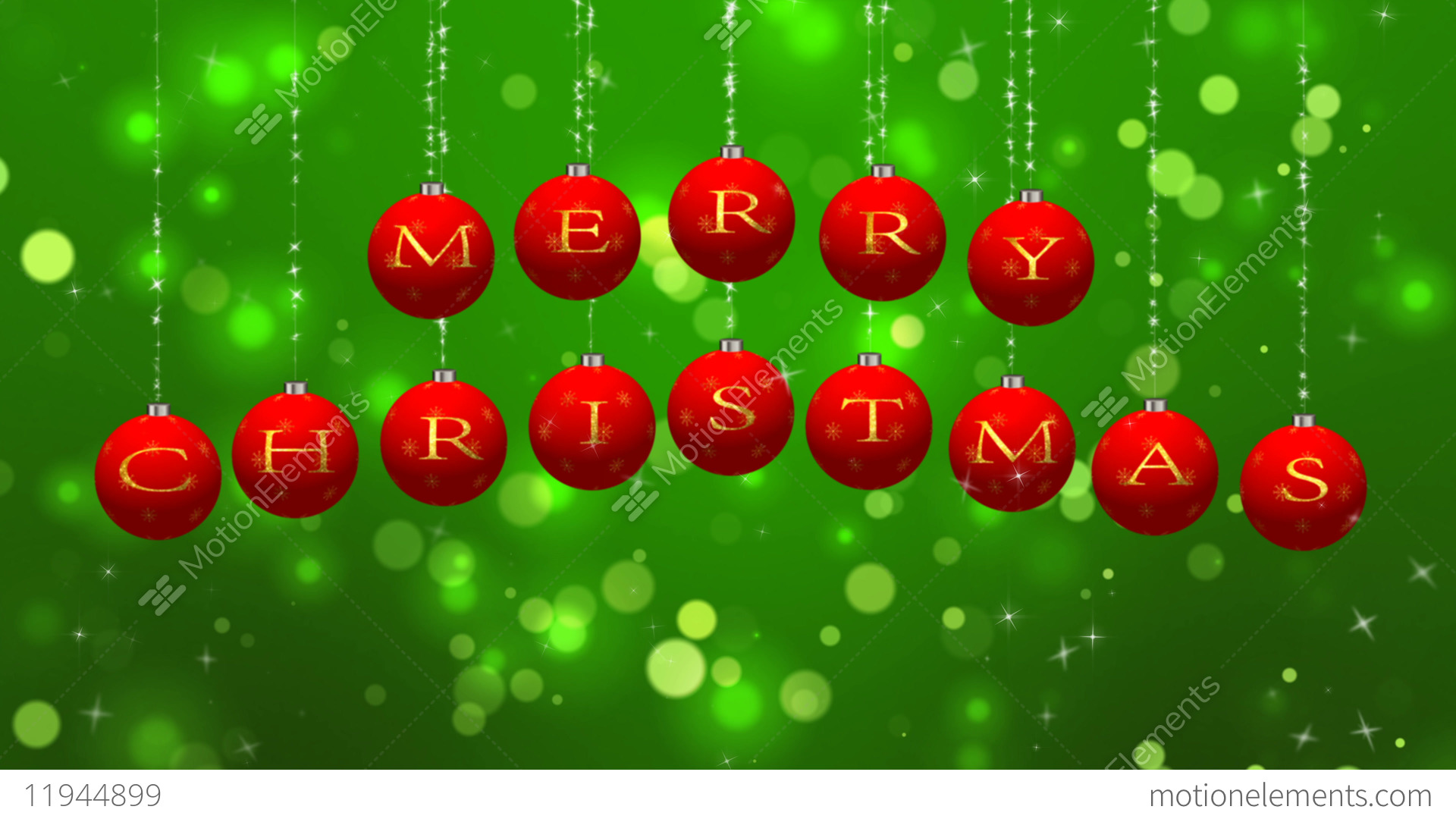 Merry Christmas Wishes On Green Particles Background Stock Animation ...