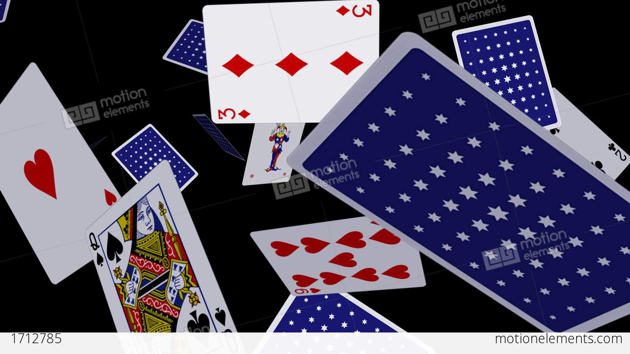 Playing Cards Flying Loop Ii Stock Animation 1712785