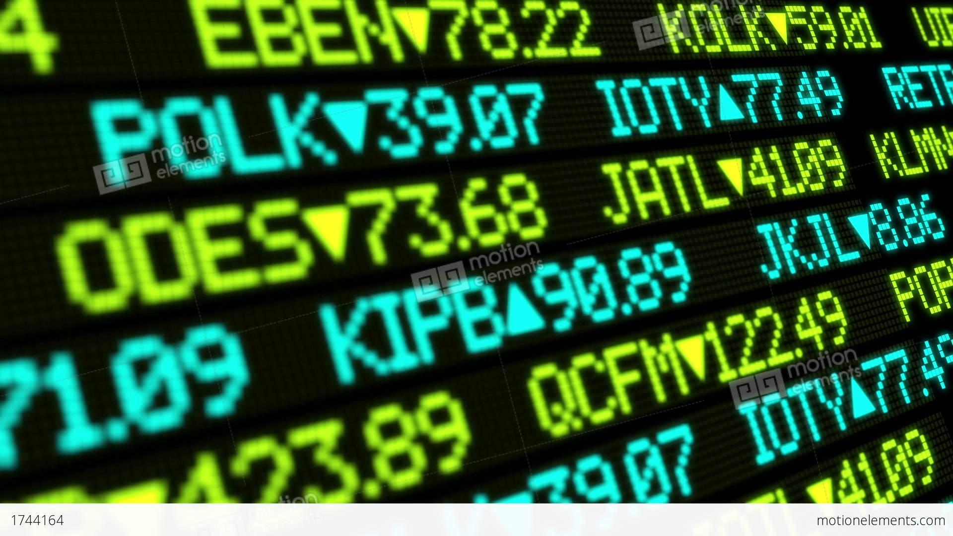 Stock Market Ticker Stock Animation | 1744164