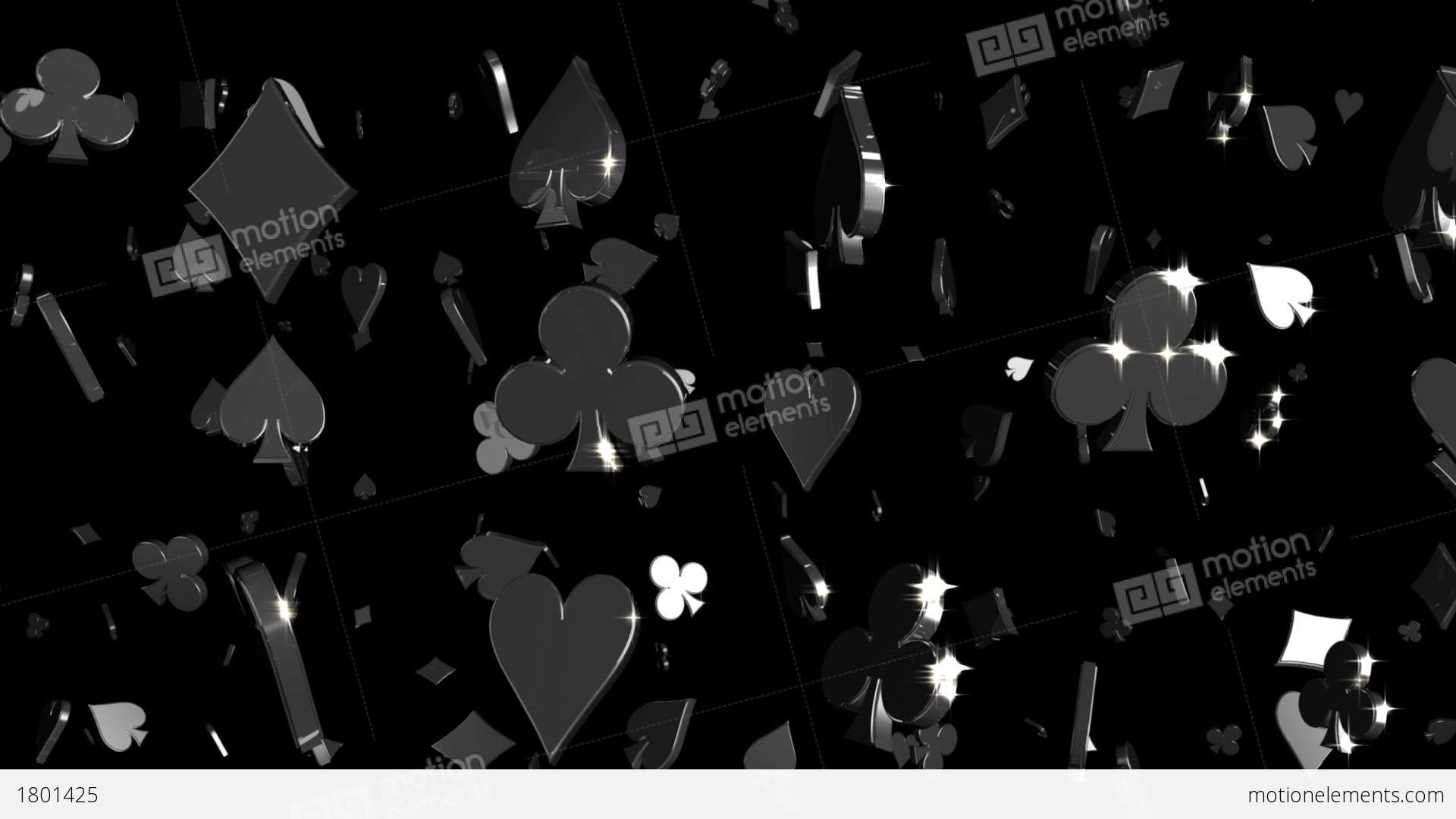 Looping Silver And Gold Card Symbols Falling Stock Animation 1801425