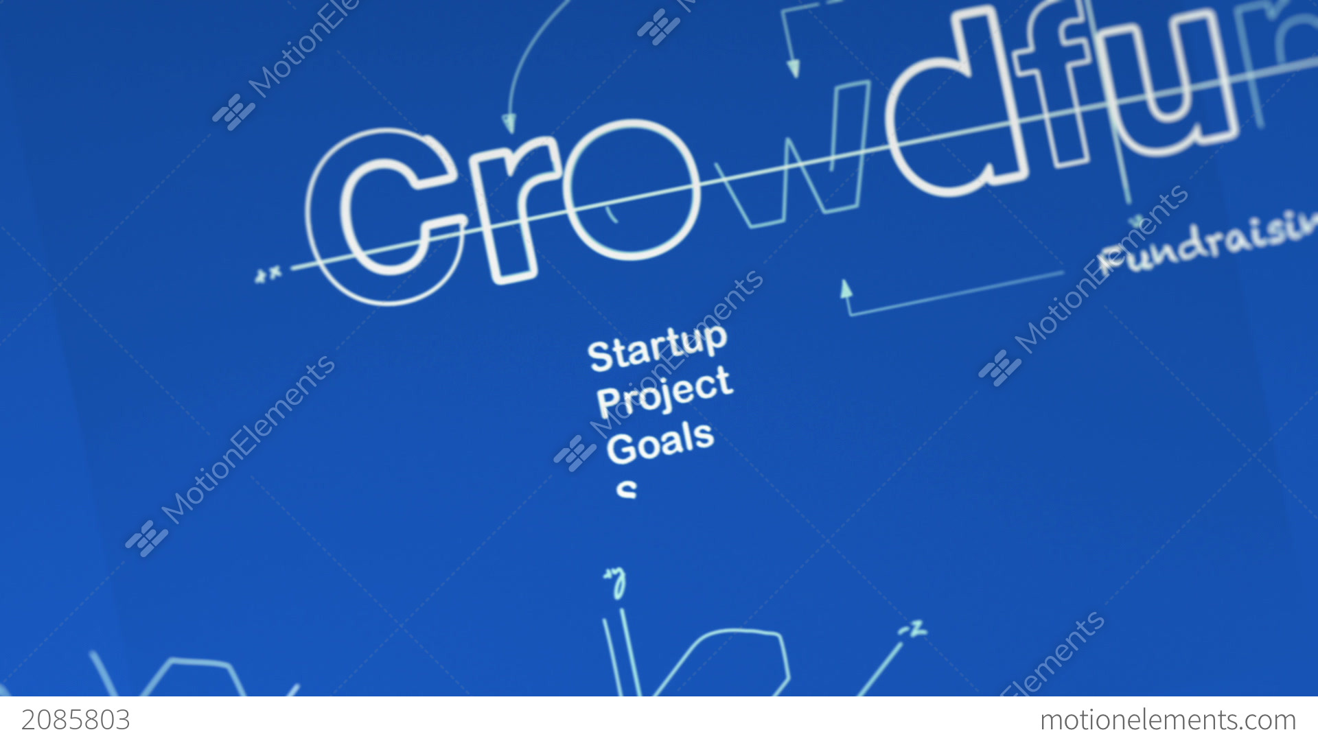 A blueprint for crowdfunding stock animation 2085803 a blueprint for crowdfunding stock video footage malvernweather Choice Image