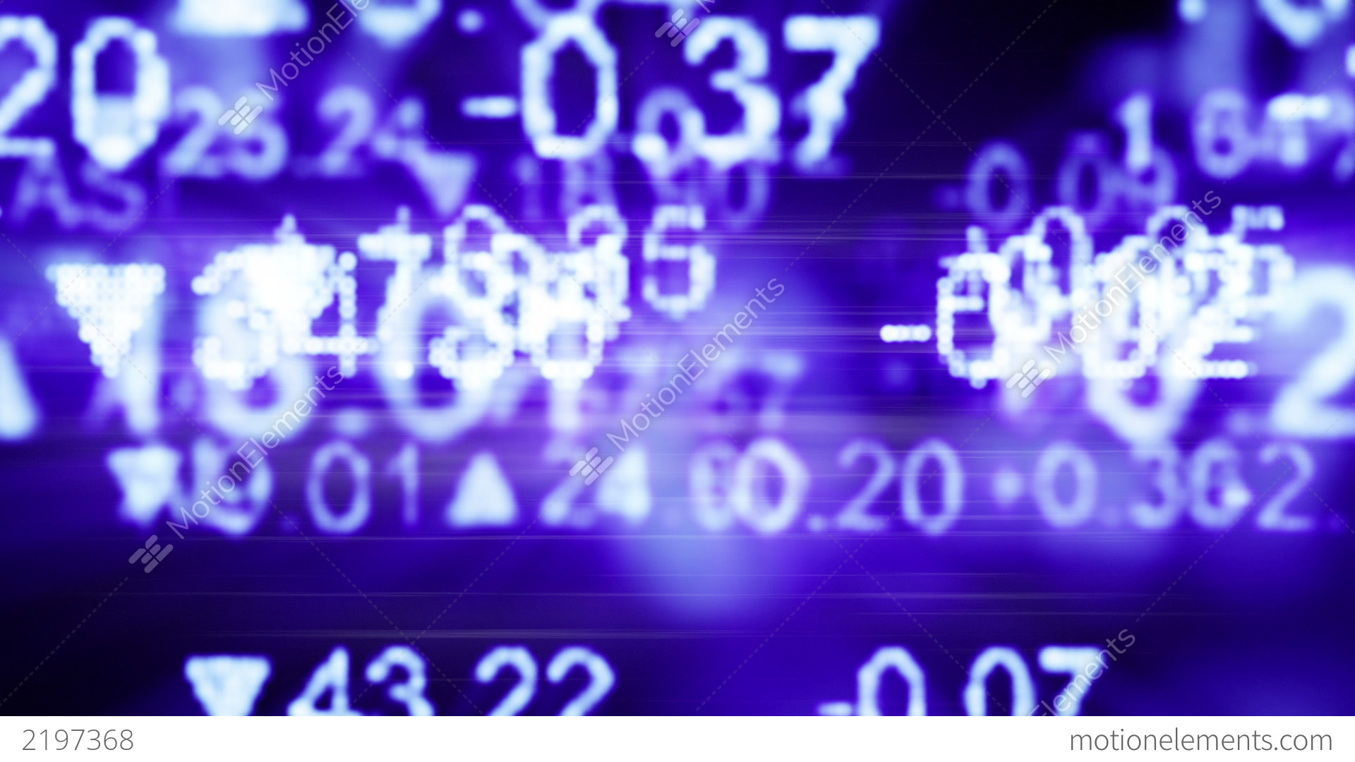Stock Market Quotes Blue Seamless Loop Background Cg