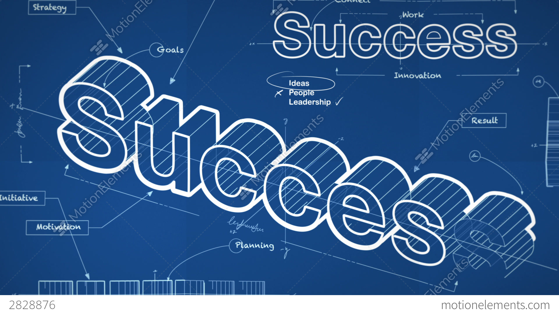 Blueprint for success stock animation 2828876 blueprint for success stock video footage business symbols malvernweather Choice Image