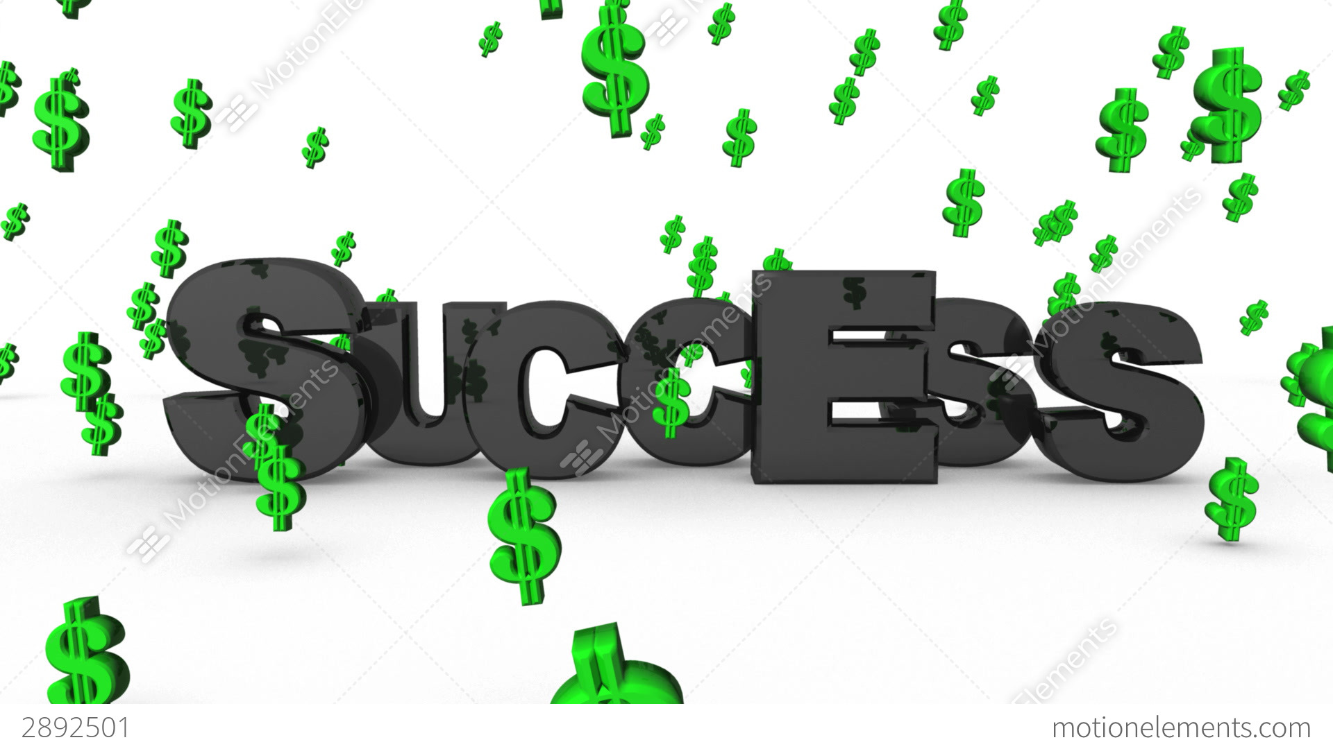Success Dollar Signs Stock Video Footage