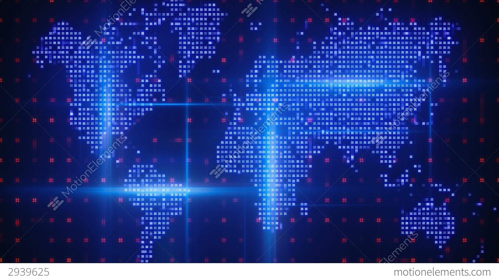 digital world map stock animation 2939625