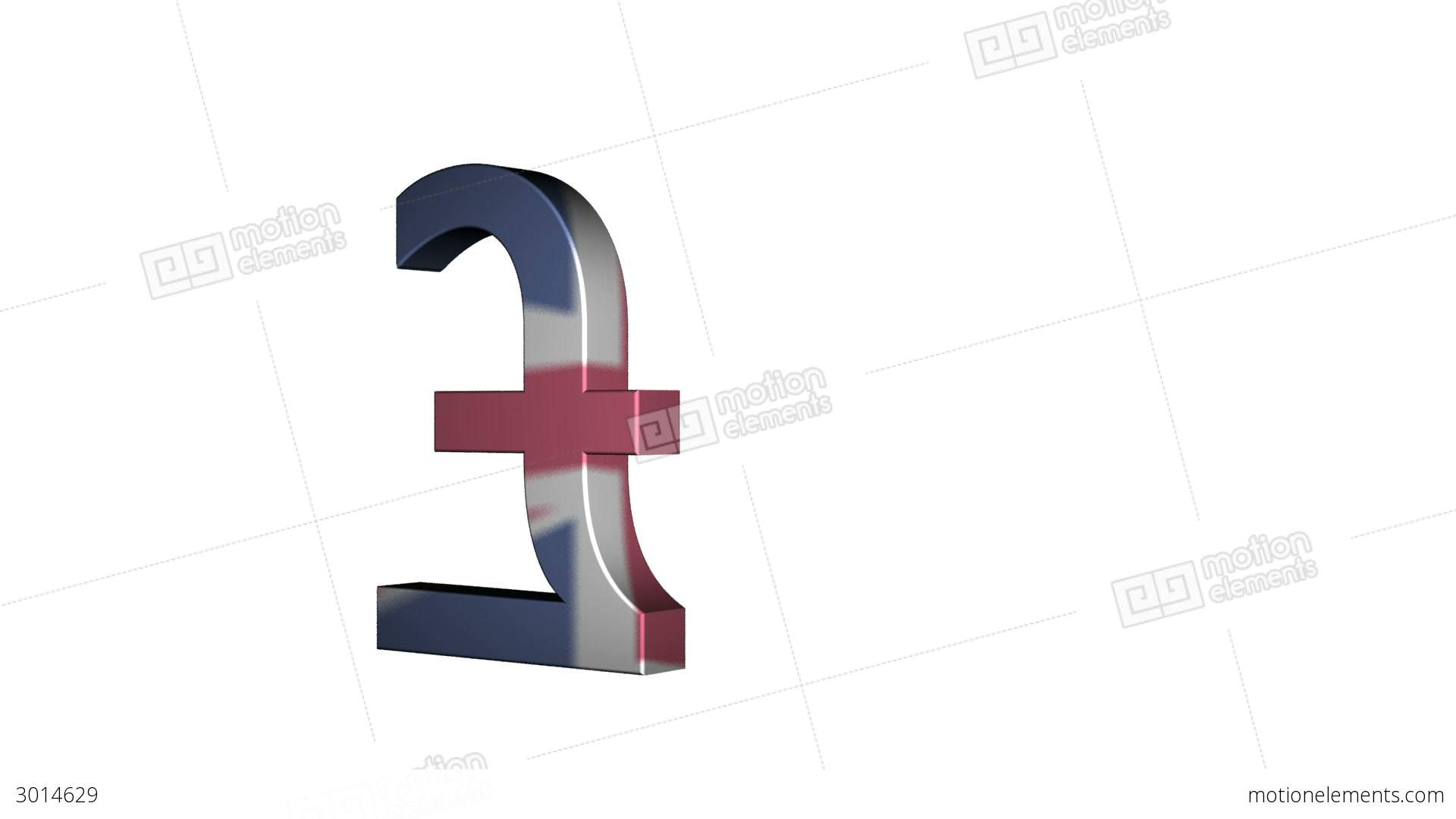 English Pound Sterling Flag Reflection Stock Animation 3014629