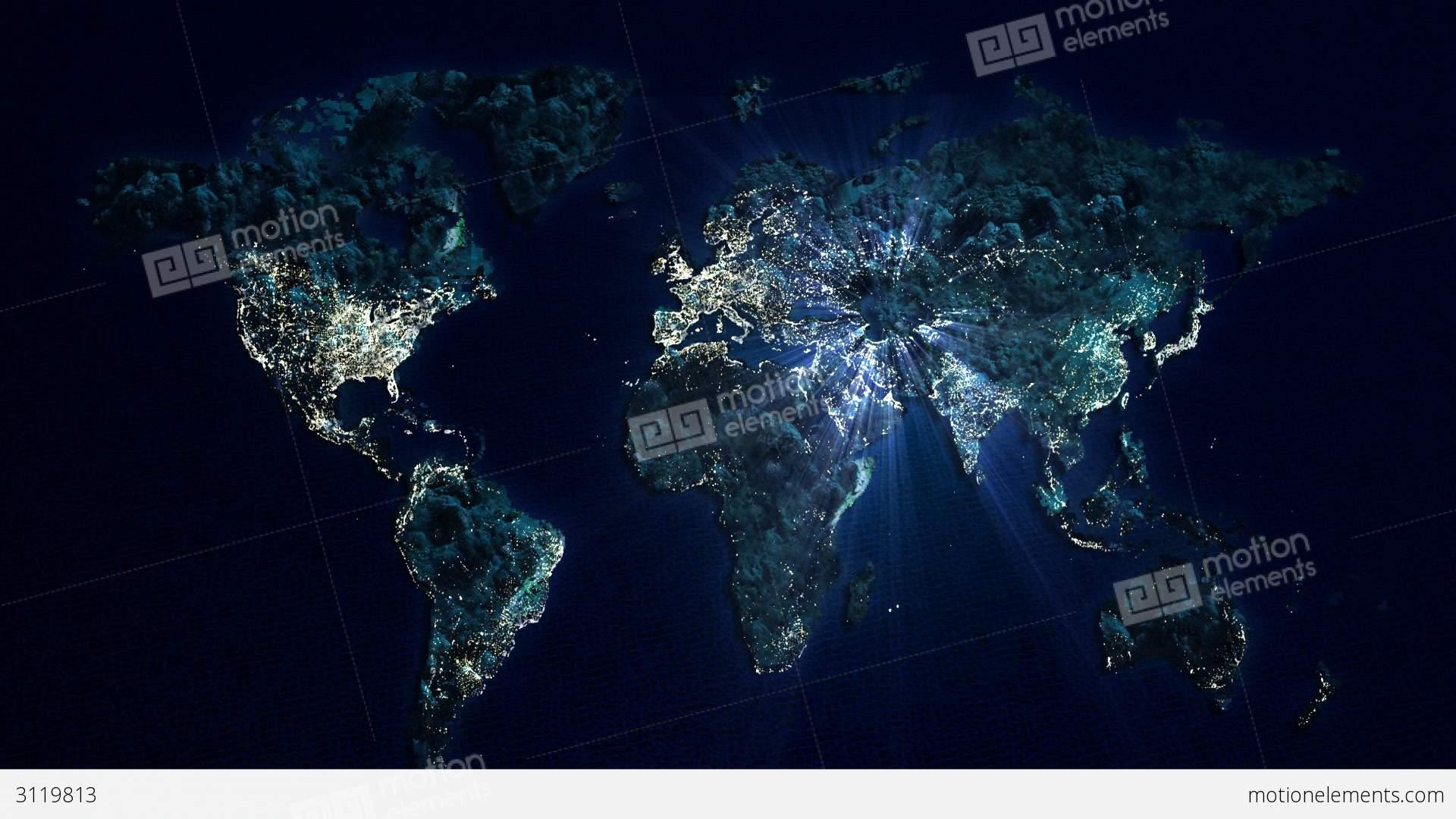 World at night glow track stock animation 3119813 world at night glow track stock video footage gumiabroncs Choice Image