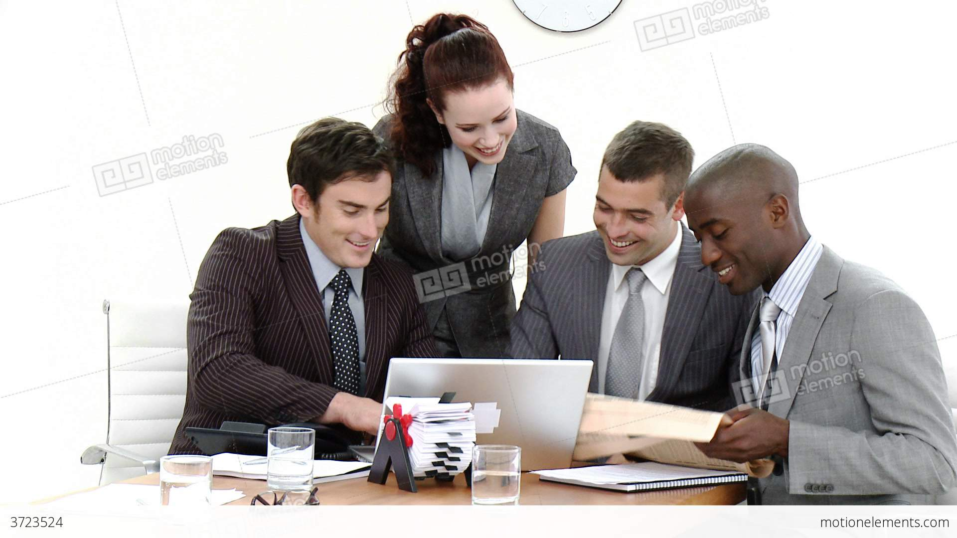 Young Business People In A Meeting Stock video footage ...