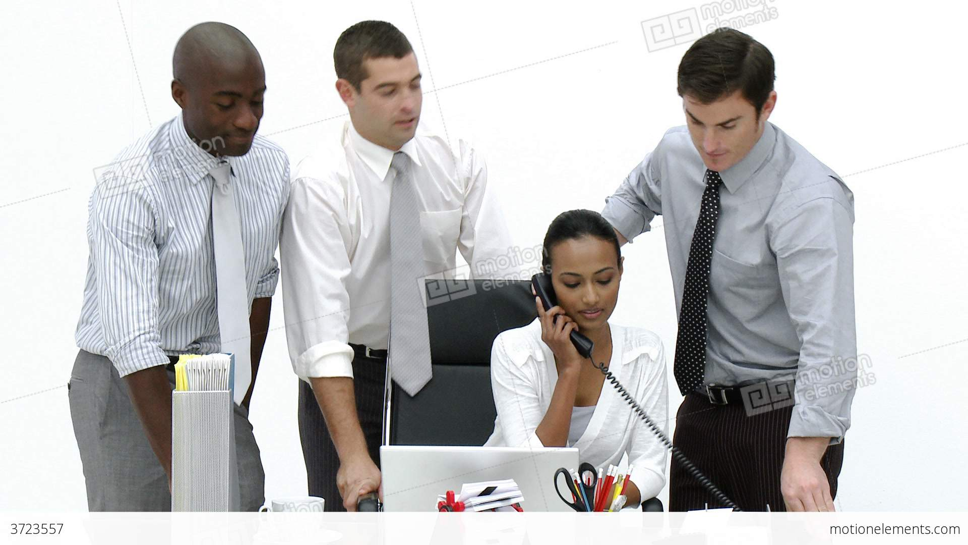 Business People Working Together In The Office Stock Video Footage