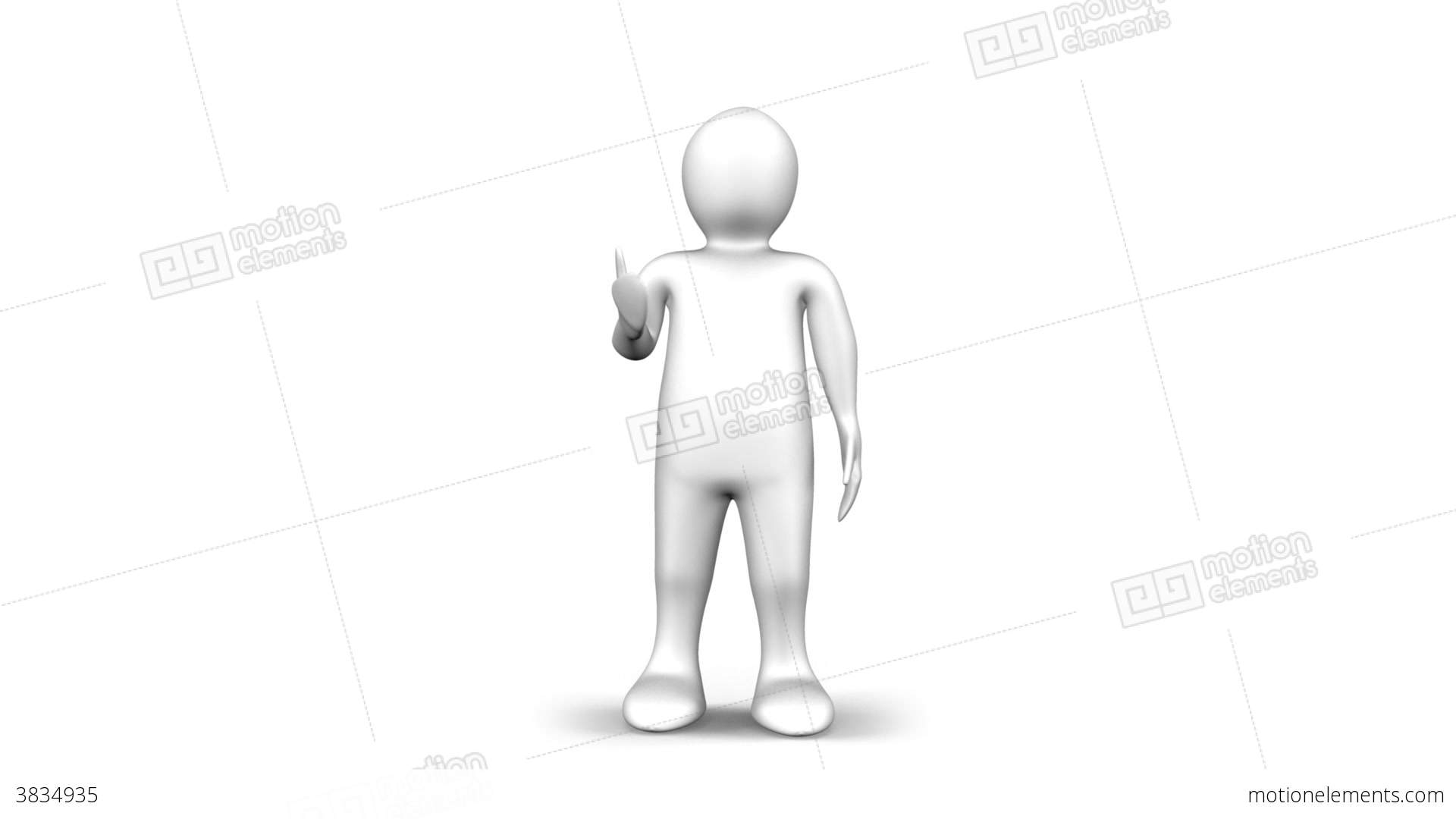 3d Man Walking And Thinking Stock Video Footage