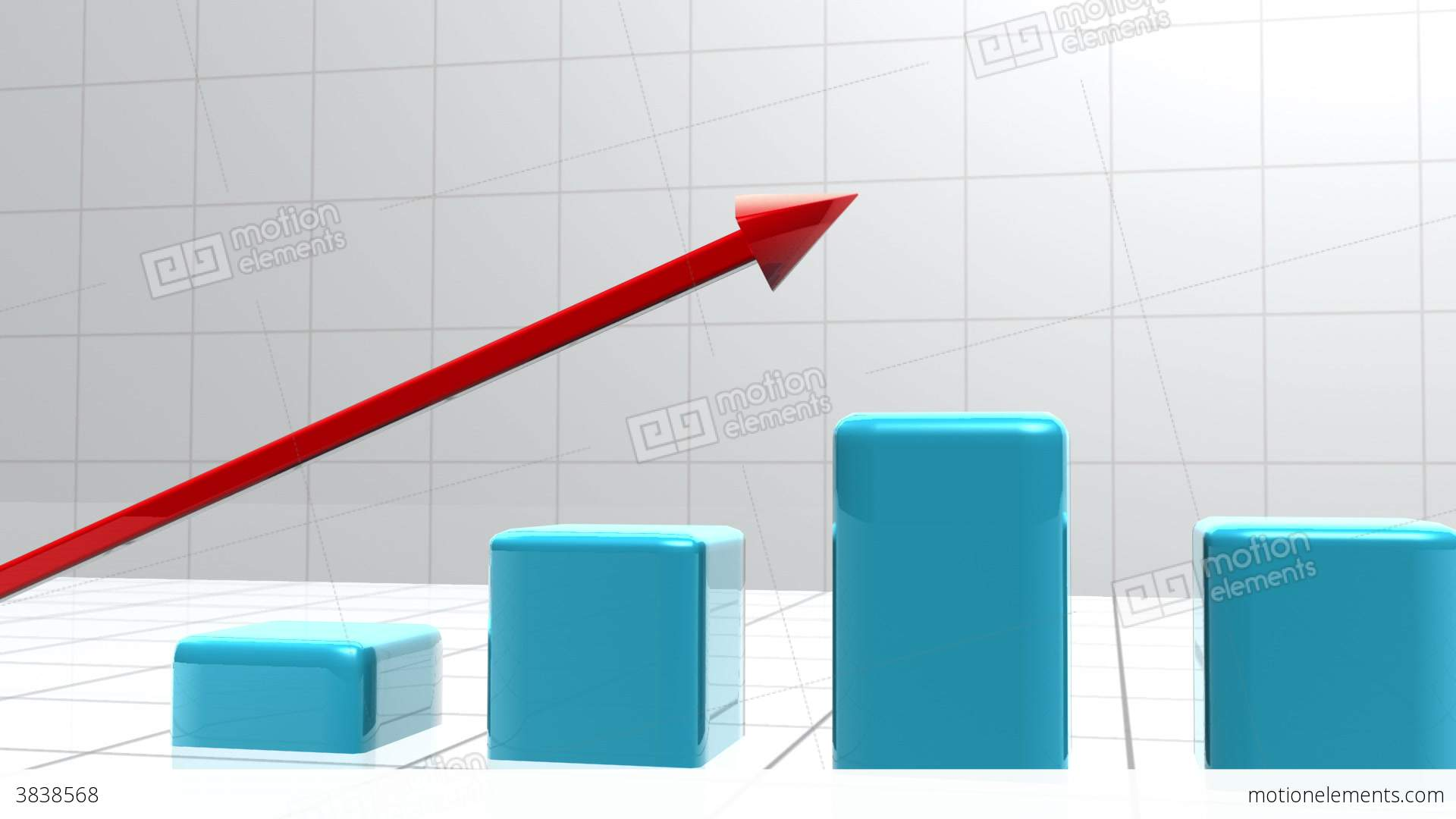 Blue bar graph appearing from the ground stock animation 3838568 blue bar graph appearing from the ground stock video footage ccuart Images