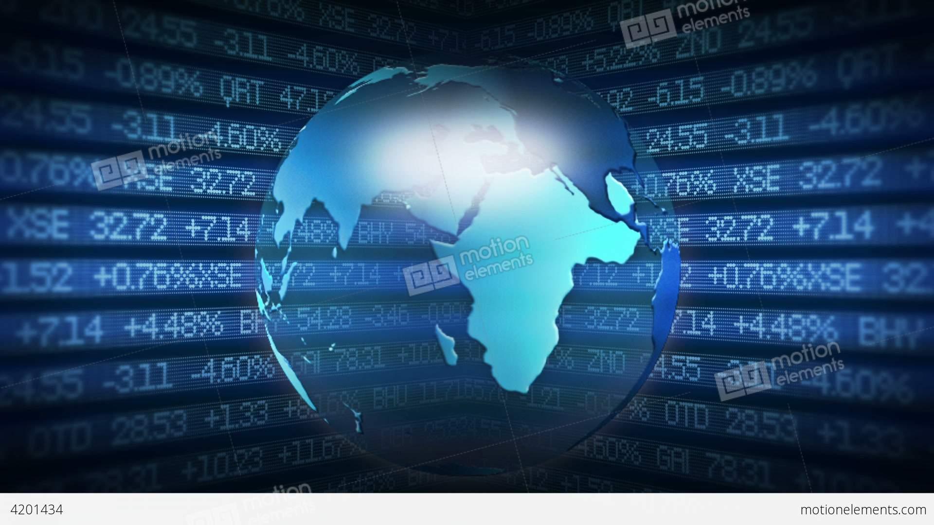 global finance stock market animation stock animation | 4201434
