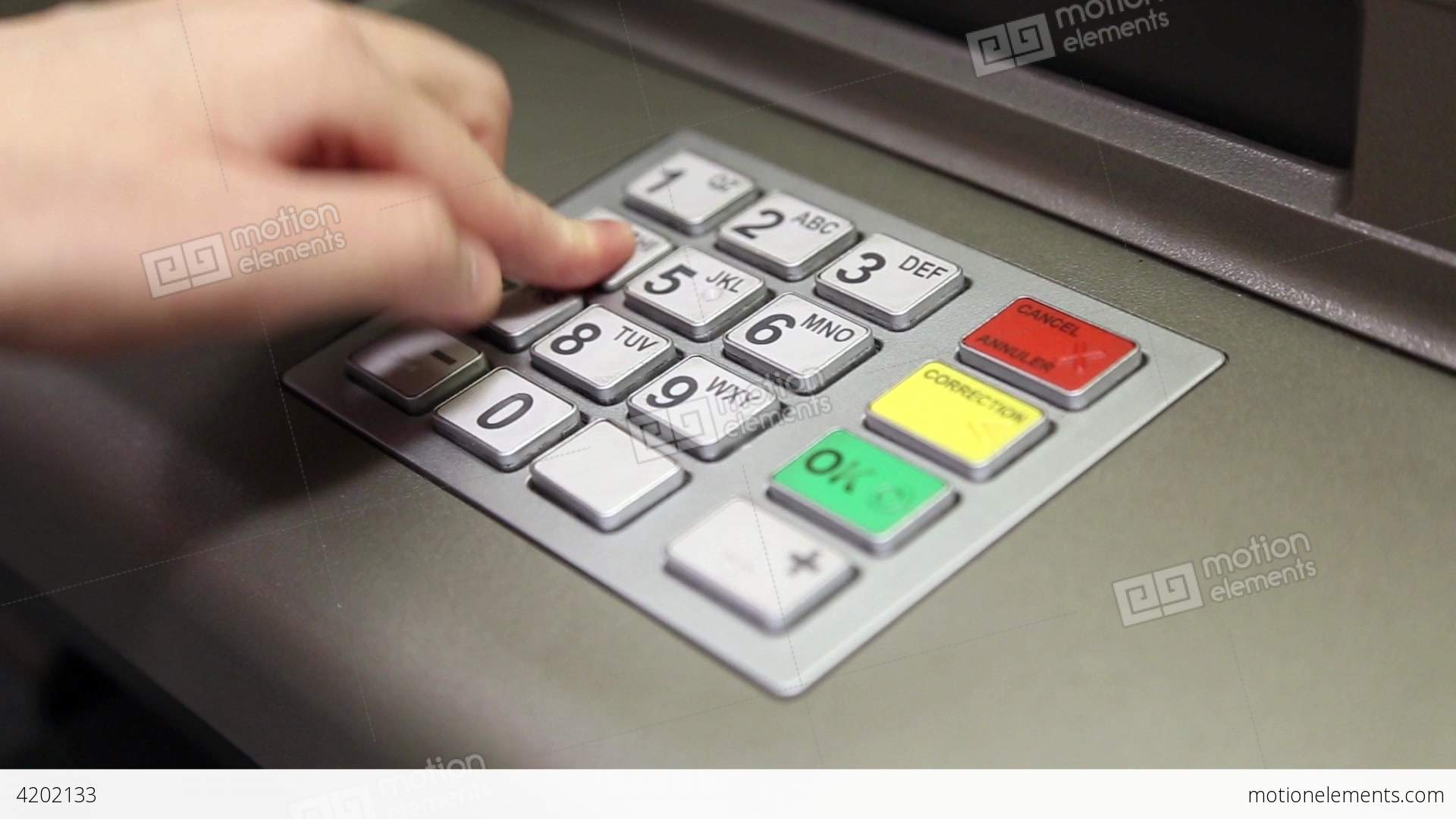 Using Keypad At Atm Machine Stock Video Footage 4202133