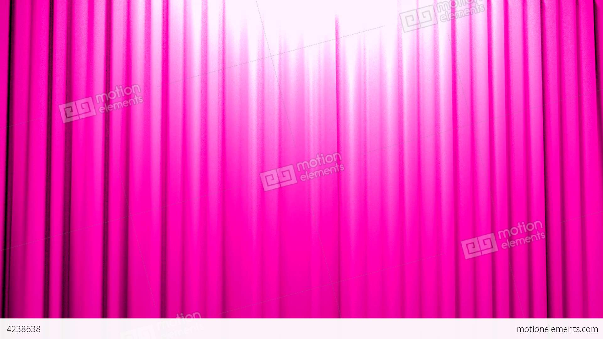 Pink Curtains Opening And Closing Stage Theater Ci Stock