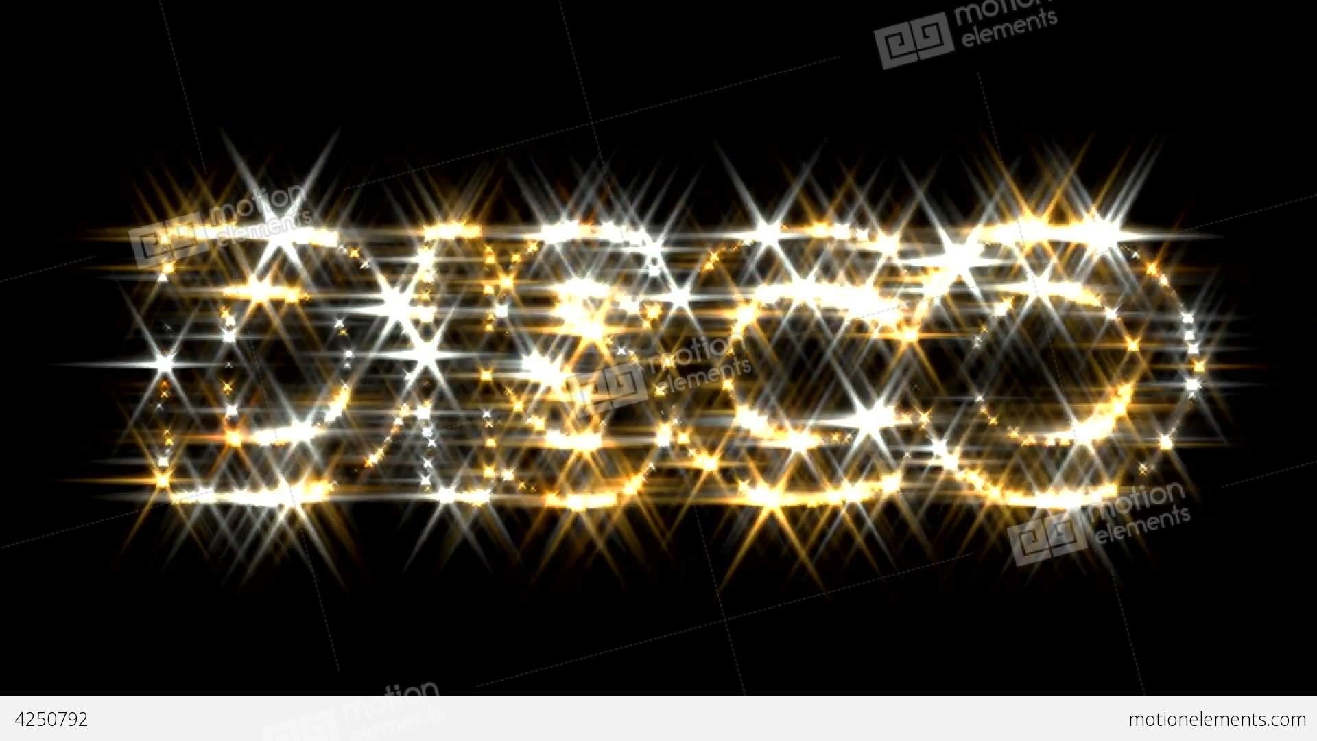 Disco Logo Text Sparkling Glitter Gold Silver Stock ...